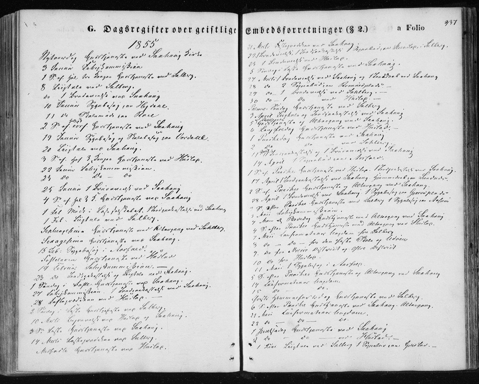 SAT, Ministerialprotokoller, klokkerbøker og fødselsregistre - Nord-Trøndelag, 730/L0283: Ministerialbok nr. 730A08, 1855-1865, s. 437