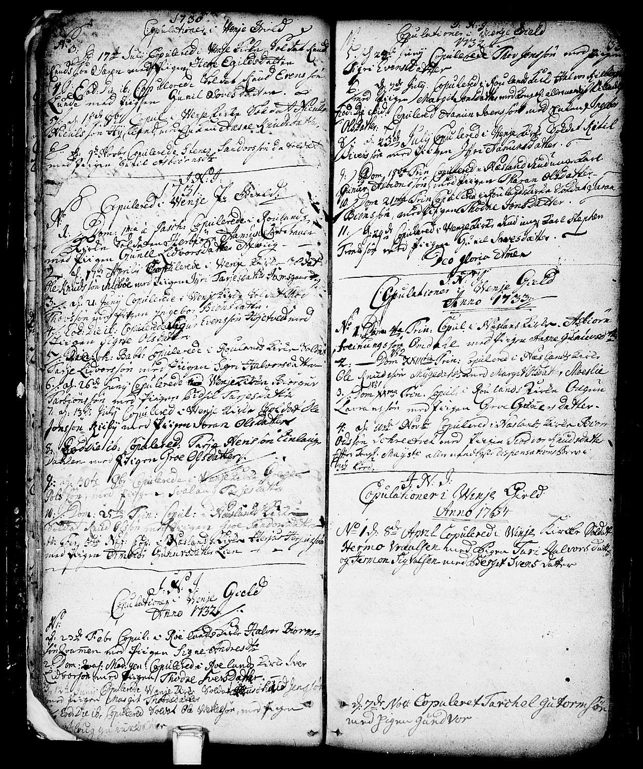 SAKO, Vinje kirkebøker, F/Fa/L0001: Ministerialbok nr. I 1, 1717-1766, s. 33
