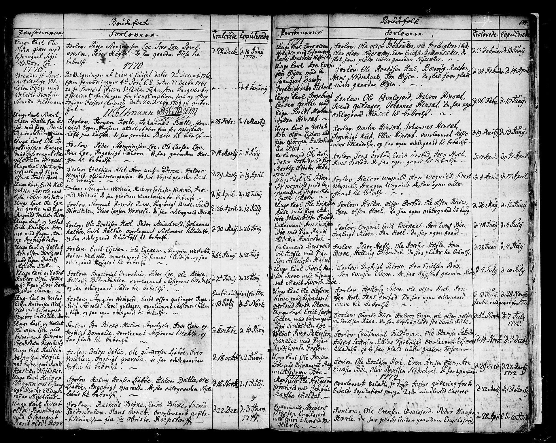 SAT, Ministerialprotokoller, klokkerbøker og fødselsregistre - Sør-Trøndelag, 678/L0891: Ministerialbok nr. 678A01, 1739-1780, s. 184a