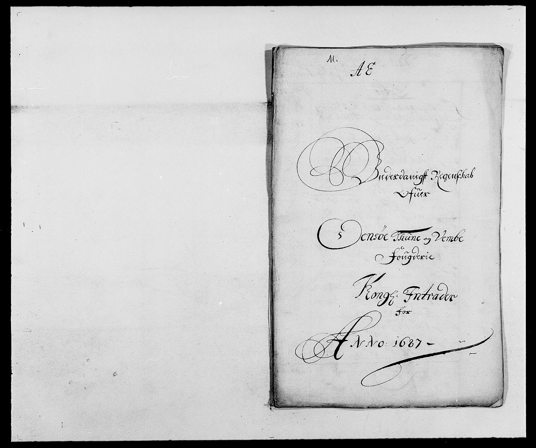 RA, Rentekammeret inntil 1814, Reviderte regnskaper, Fogderegnskap, R03/L0117: Fogderegnskap Onsøy, Tune, Veme og Åbygge fogderi, 1684-1689, s. 2