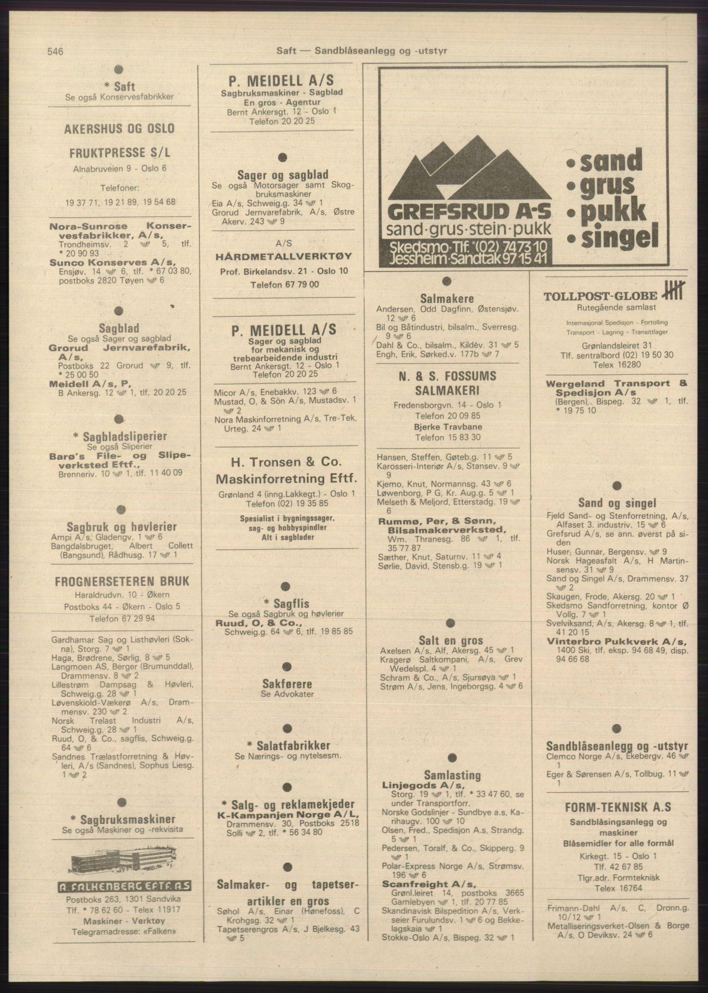 PUBL, Kristiania/Oslo adressebok, 1980-1981, s. 546