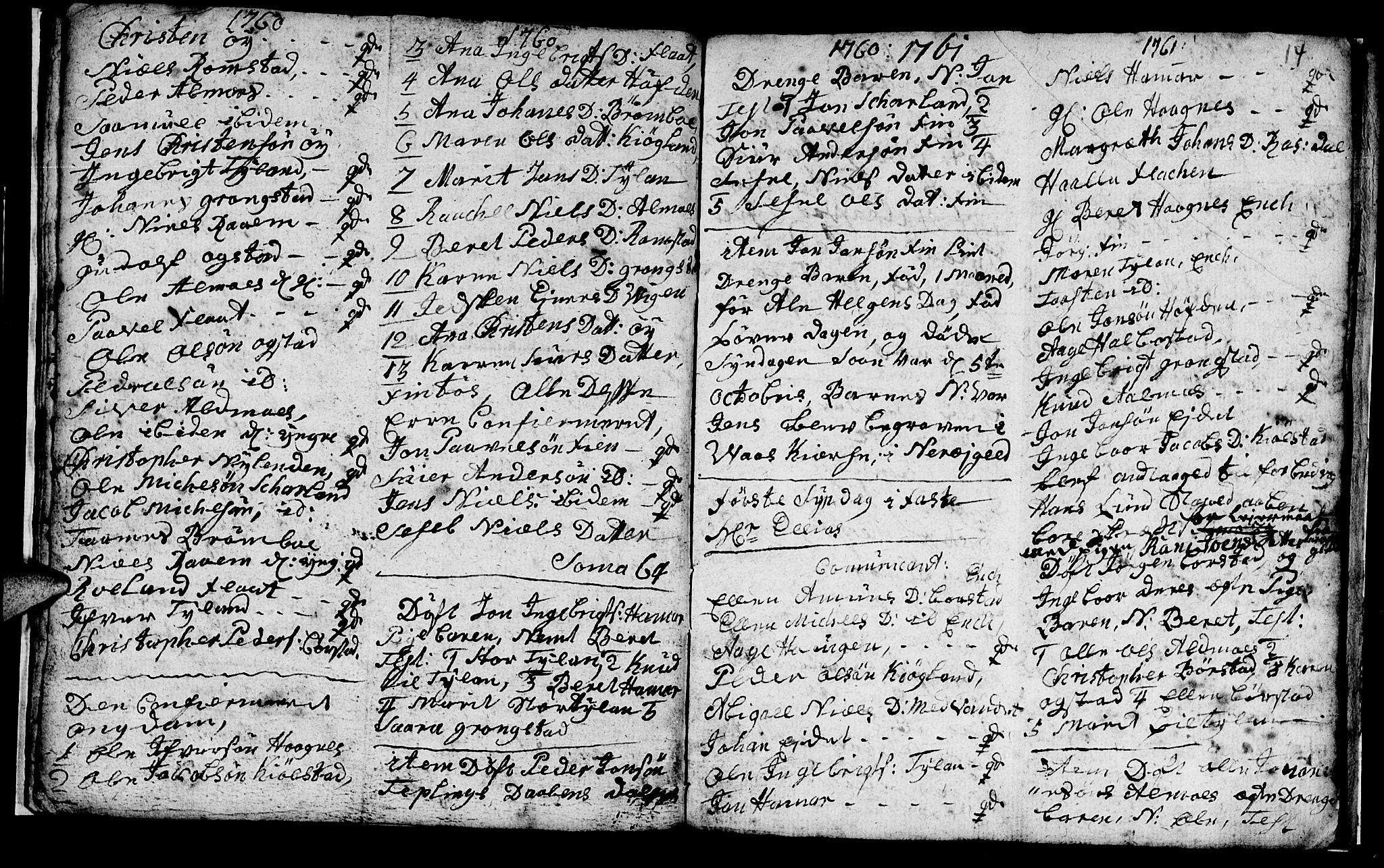 SAT, Ministerialprotokoller, klokkerbøker og fødselsregistre - Nord-Trøndelag, 765/L0561: Ministerialbok nr. 765A02, 1758-1765, s. 14