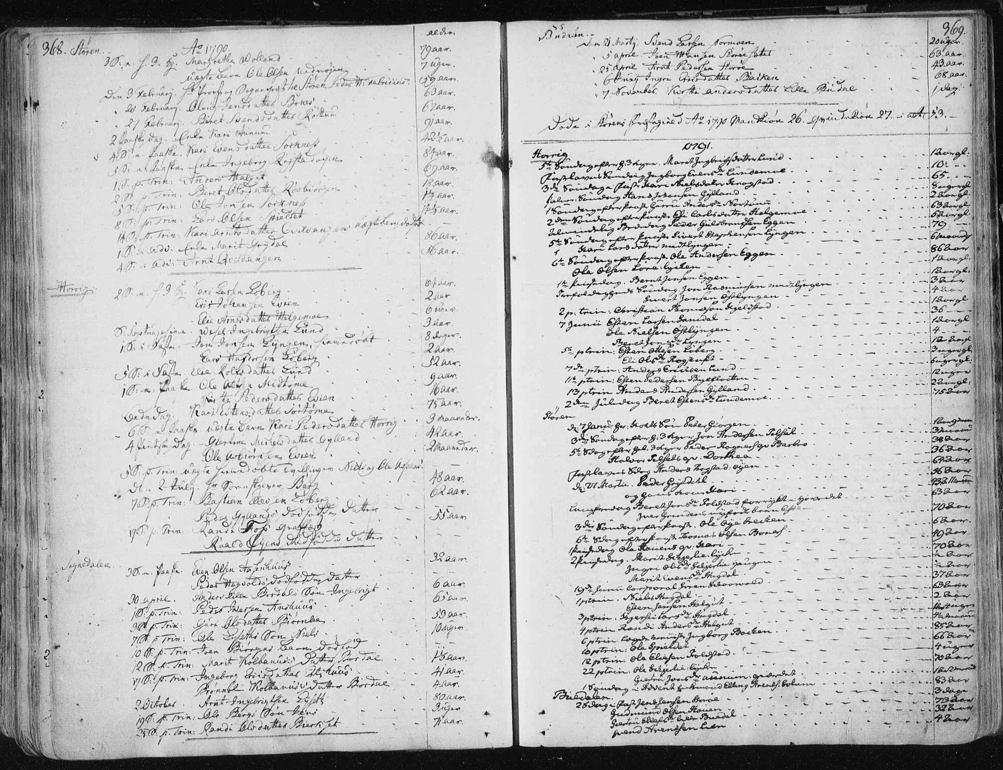SAT, Ministerialprotokoller, klokkerbøker og fødselsregistre - Sør-Trøndelag, 687/L0992: Ministerialbok nr. 687A03 /1, 1788-1815, s. 368-369