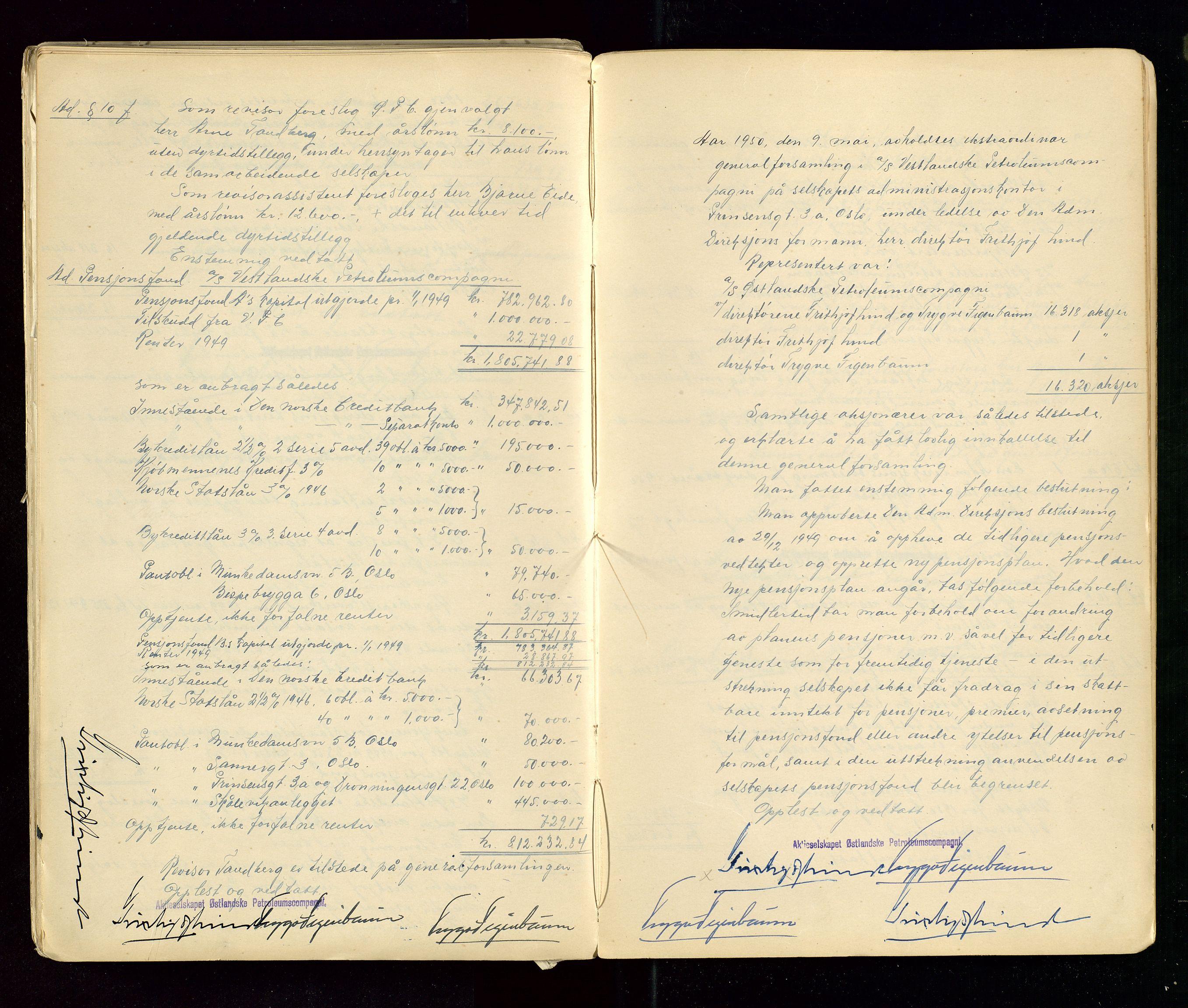 SAST, PA 1533 - A/S Vestlandske Petroleumscompani, A/Aa/L0001: Generalforsamlinger og styreprotokoller, 1890-1953, s. 142