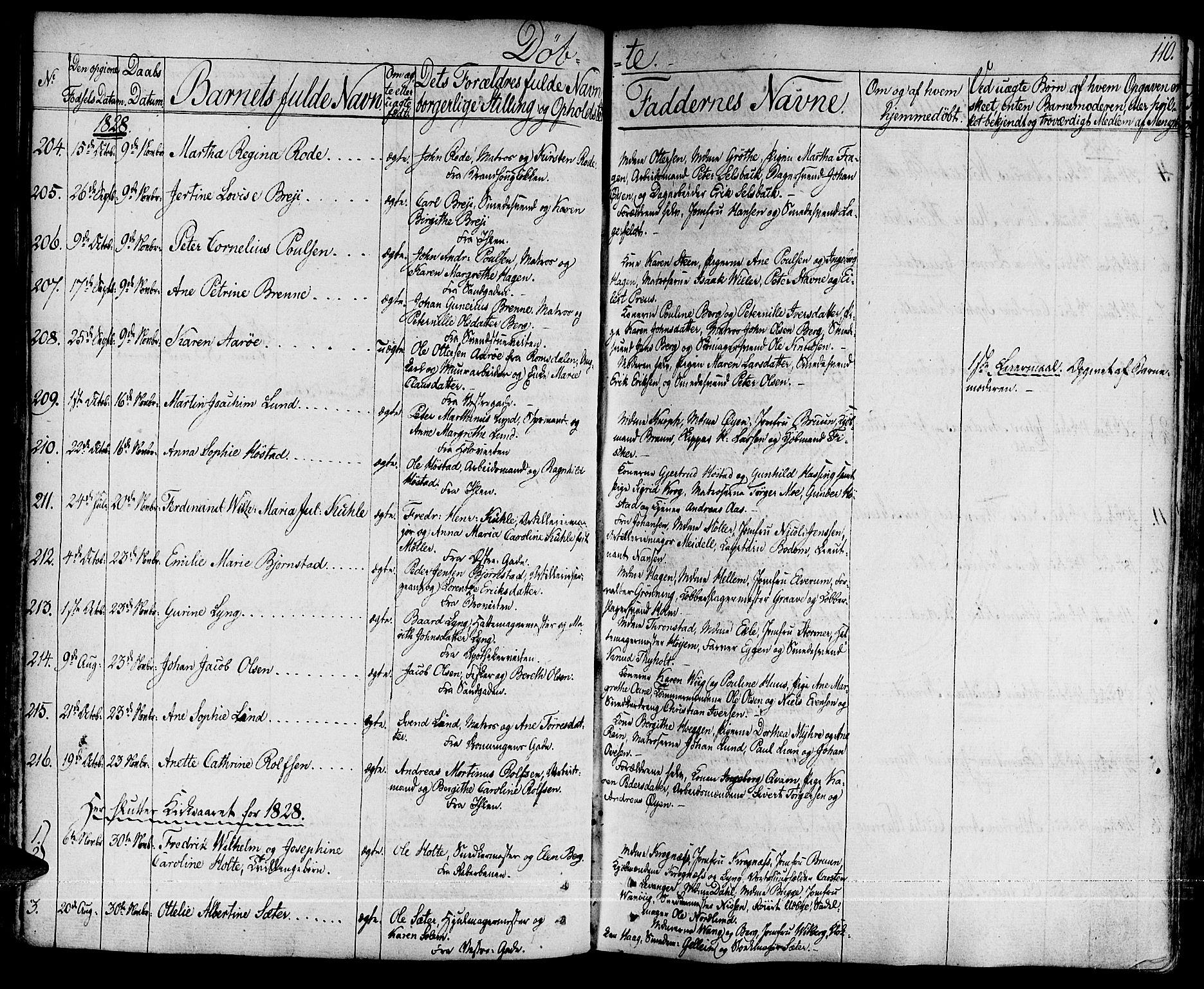 SAT, Ministerialprotokoller, klokkerbøker og fødselsregistre - Sør-Trøndelag, 601/L0045: Ministerialbok nr. 601A13, 1821-1831, s. 110