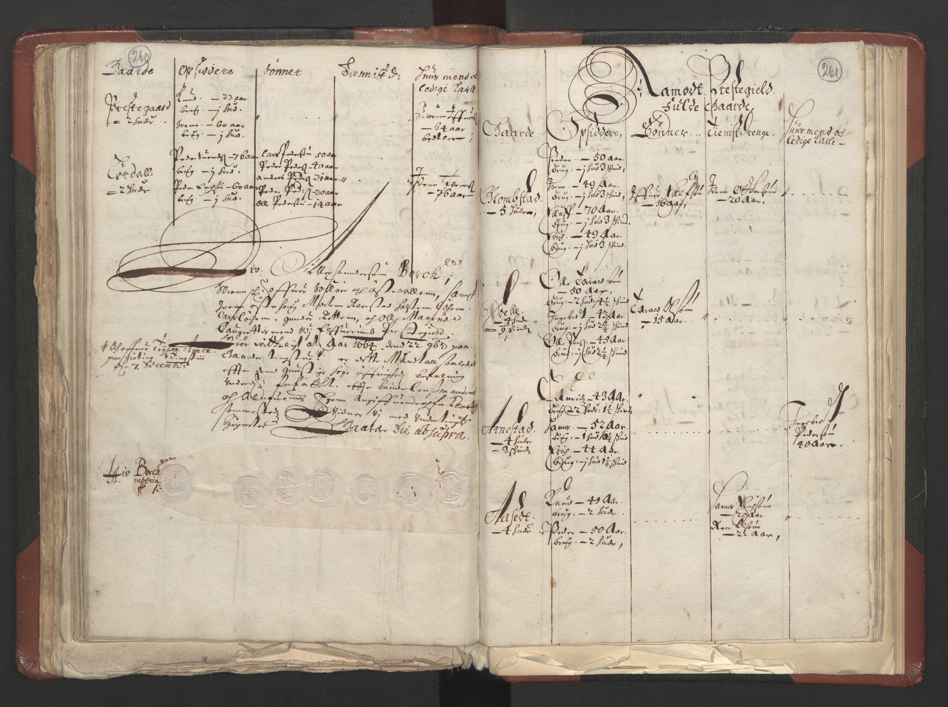 RA, Fogdenes og sorenskrivernes manntall 1664-1666, nr. 3: Hedmark fogderi og Solør, Østerdal og Odal fogderi, 1664, s. 260-261