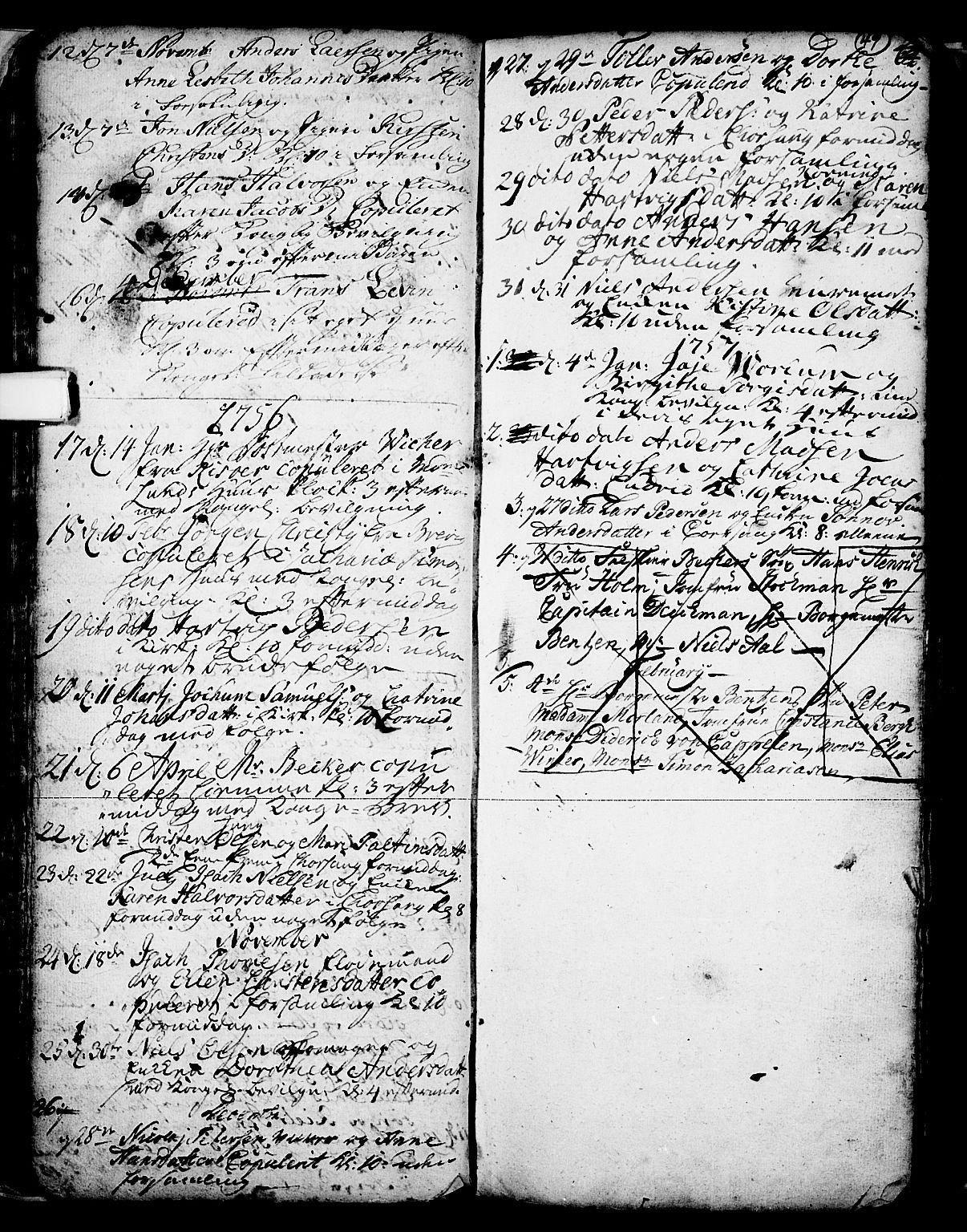 SAKO, Skien kirkebøker, F/Fa/L0002: Ministerialbok nr. 2, 1716-1757, s. 49