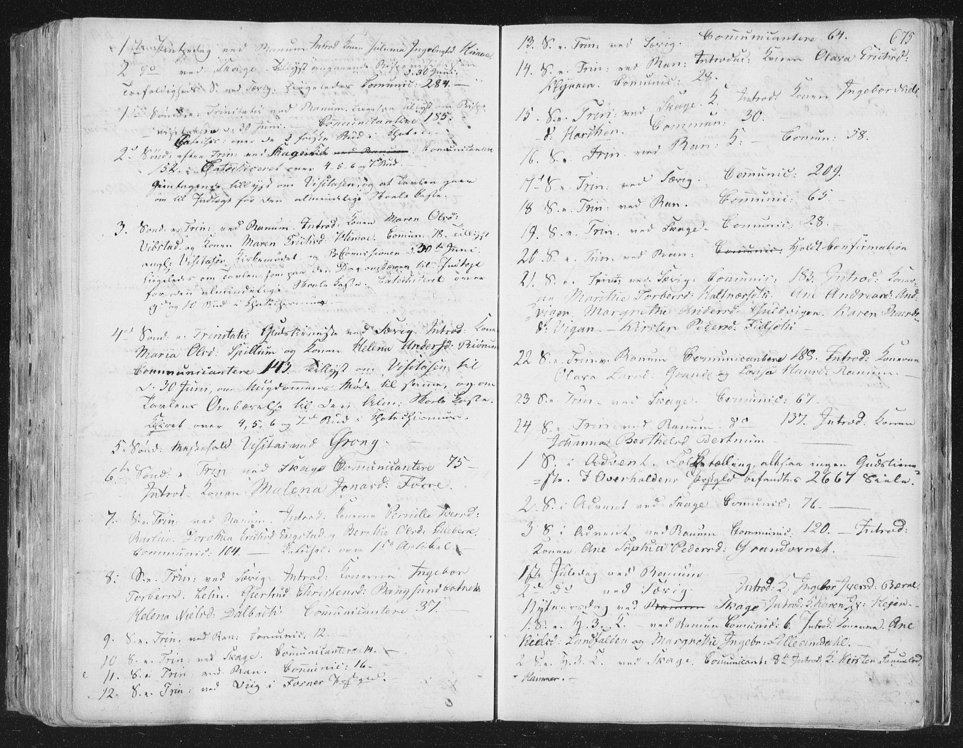 SAT, Ministerialprotokoller, klokkerbøker og fødselsregistre - Nord-Trøndelag, 764/L0552: Ministerialbok nr. 764A07b, 1824-1865, s. 675