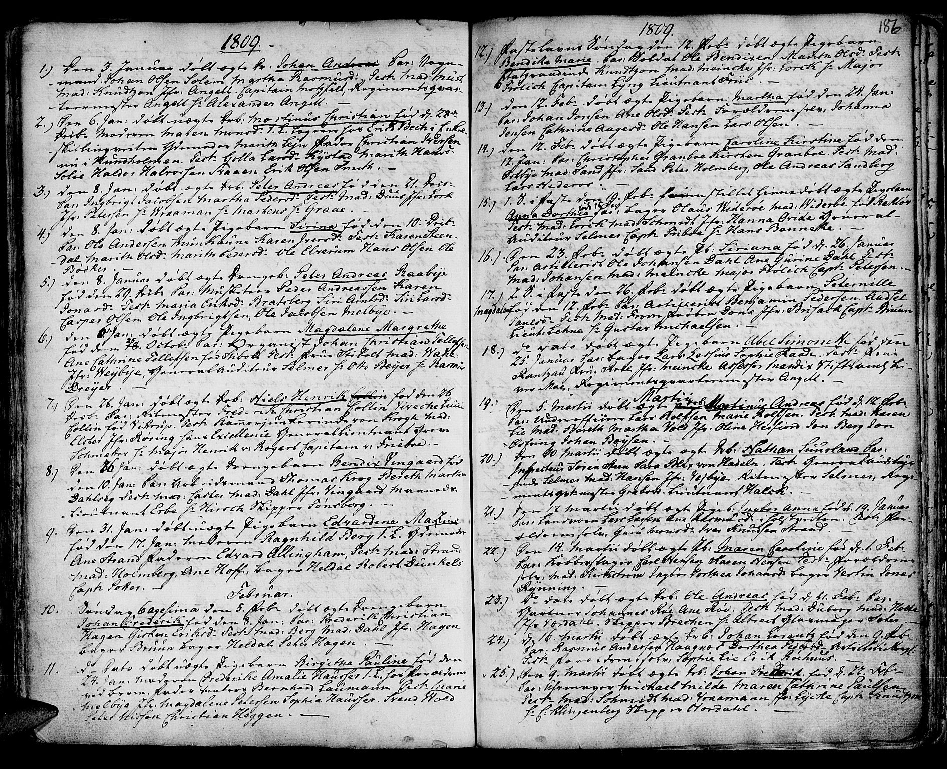 SAT, Ministerialprotokoller, klokkerbøker og fødselsregistre - Sør-Trøndelag, 601/L0039: Ministerialbok nr. 601A07, 1770-1819, s. 186
