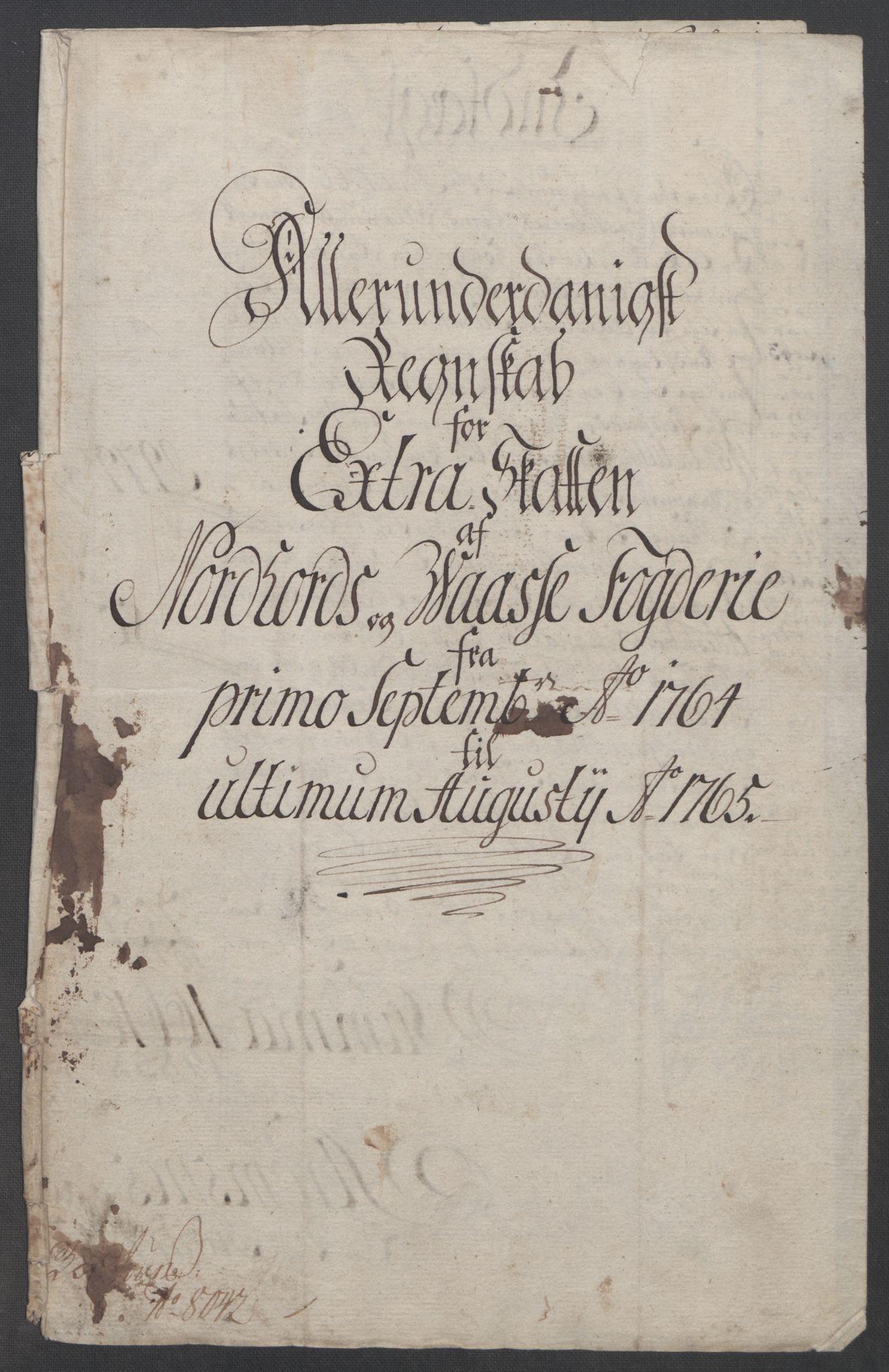 RA, Rentekammeret inntil 1814, Reviderte regnskaper, Fogderegnskap, R51/L3303: Ekstraskatten Nordhordland og Voss, 1762-1772, s. 91