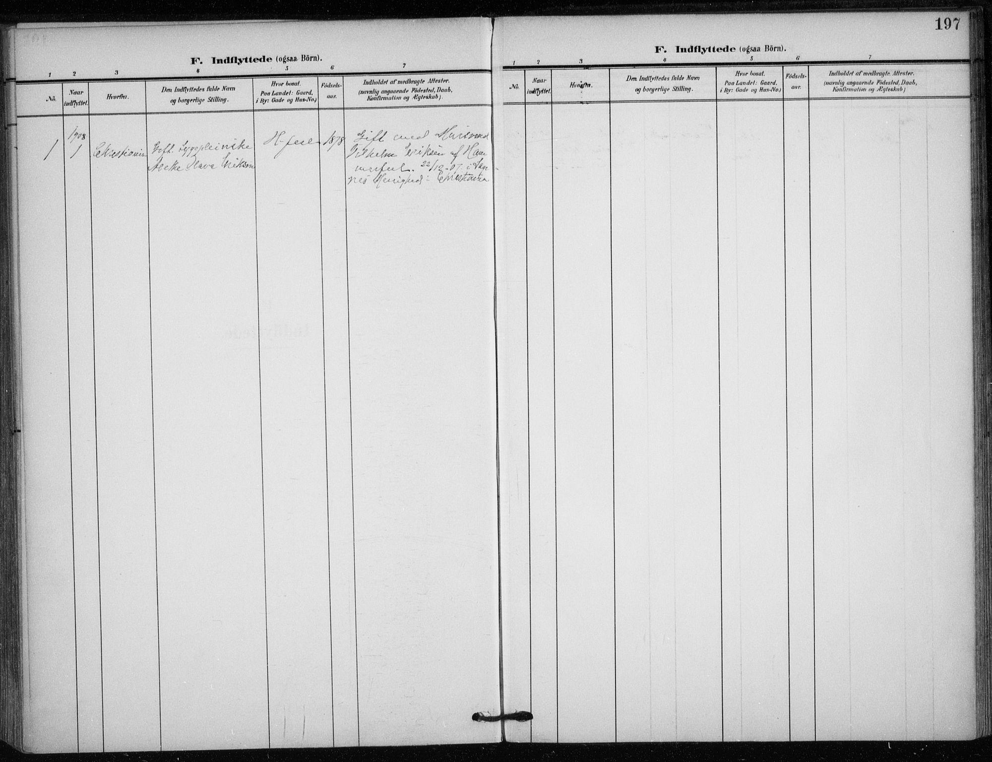 SATØ, Hammerfest sokneprestkontor, H/Ha/L0014.kirke: Ministerialbok nr. 14, 1906-1916, s. 197