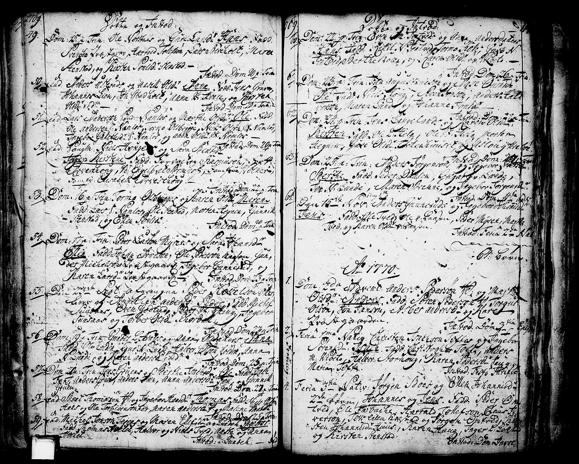 SAKO, Holla kirkebøker, F/Fa/L0001: Ministerialbok nr. 1, 1717-1779, s. 114