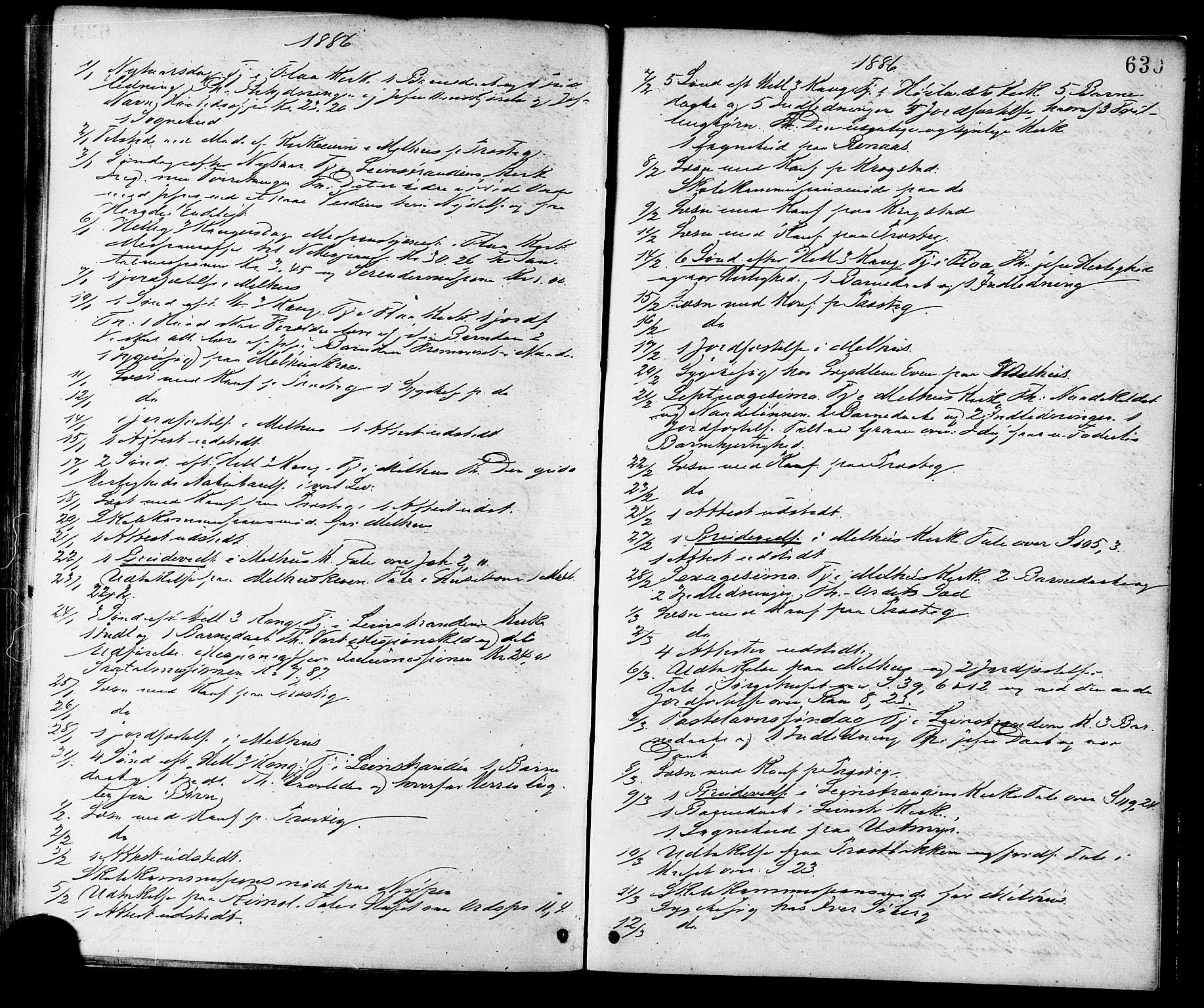 SAT, Ministerialprotokoller, klokkerbøker og fødselsregistre - Sør-Trøndelag, 691/L1079: Ministerialbok nr. 691A11, 1873-1886, s. 630