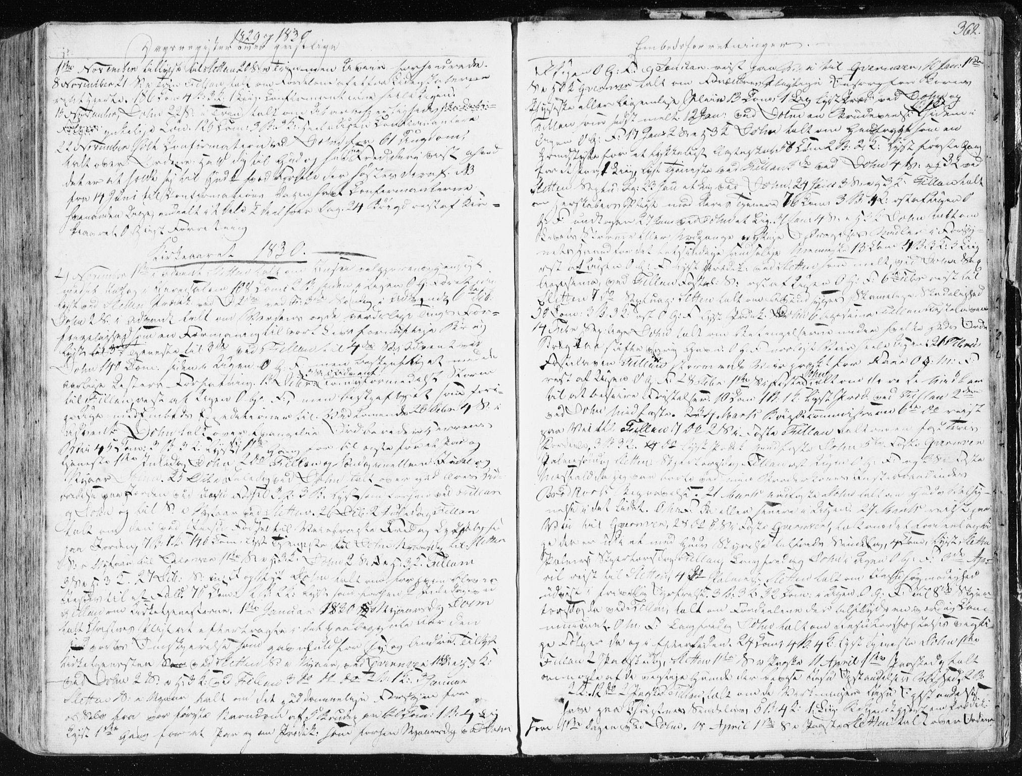 SAT, Ministerialprotokoller, klokkerbøker og fødselsregistre - Sør-Trøndelag, 634/L0528: Ministerialbok nr. 634A04, 1827-1842, s. 362