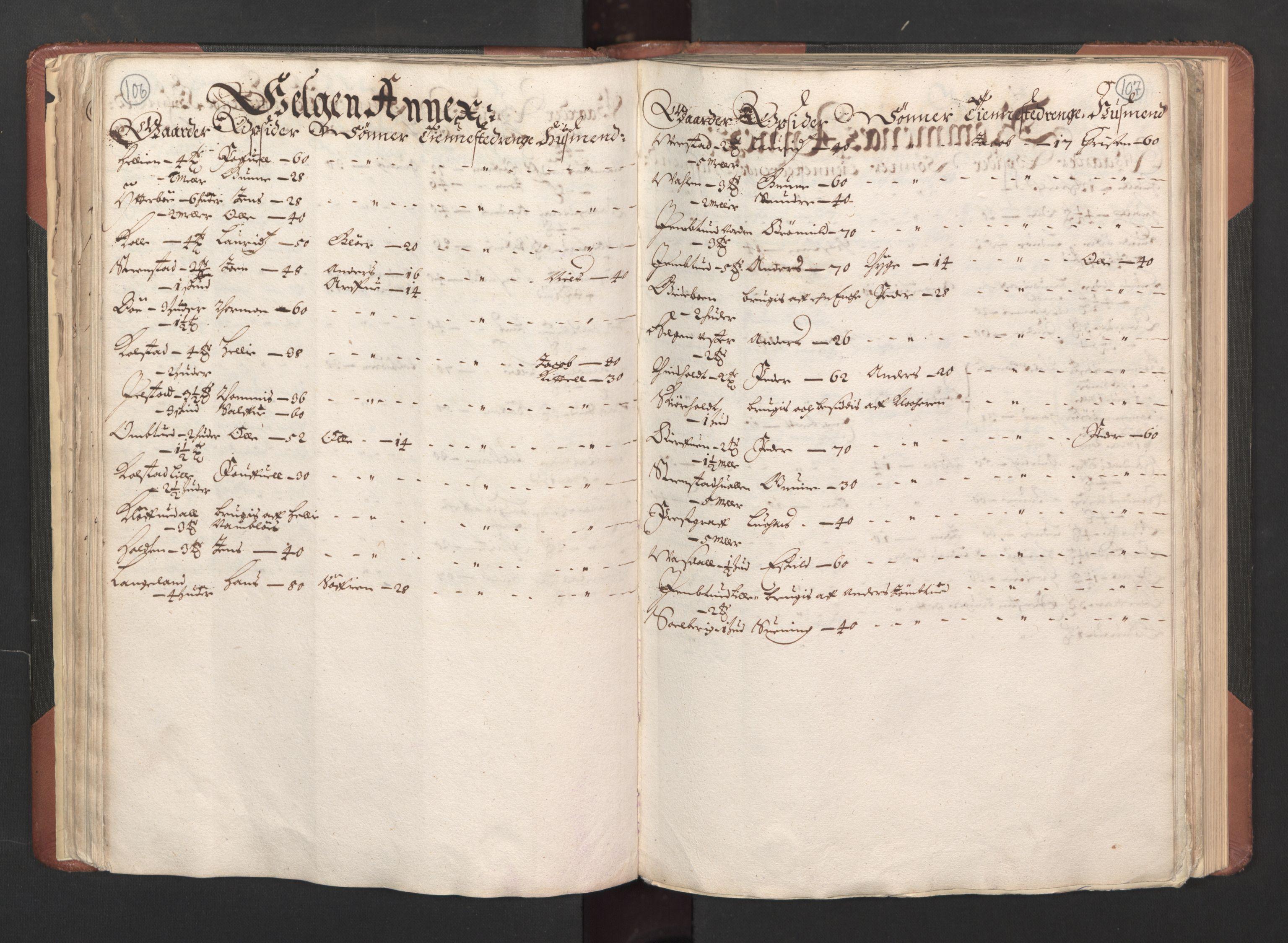 RA, Fogdenes og sorenskrivernes manntall 1664-1666, nr. 6: Øvre og Nedre Telemark fogderi og Bamble fogderi , 1664, s. 106-107