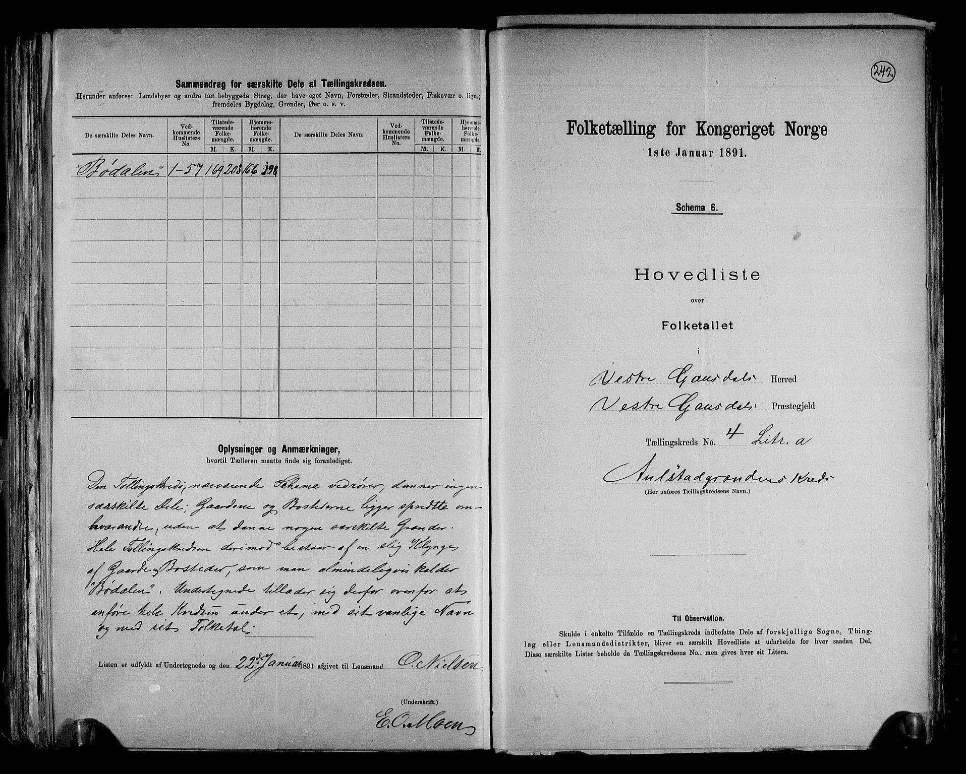 RA, Folketelling 1891 for 0523 Vestre Gausdal herred, 1891, s. 14