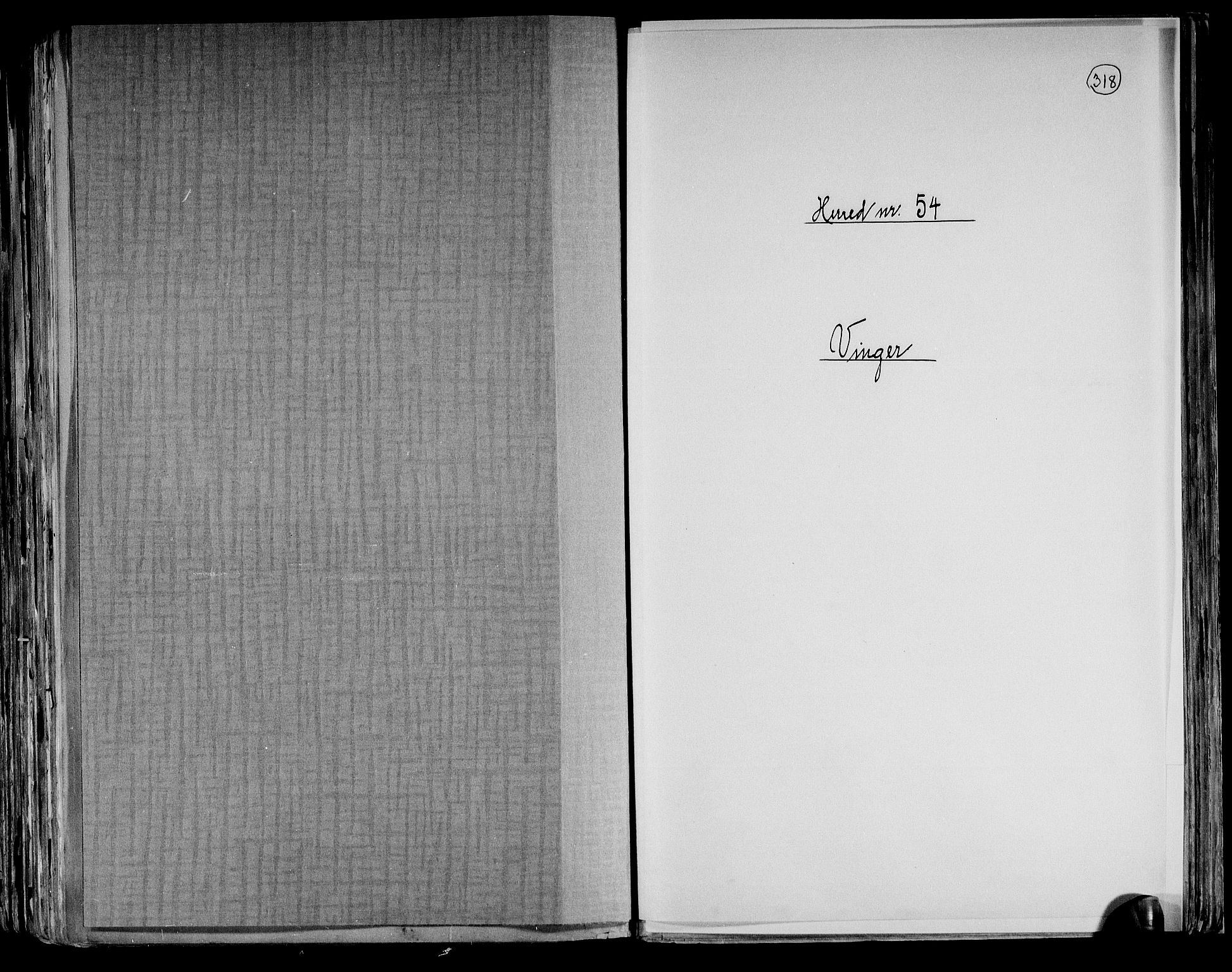 RA, Folketelling 1891 for 0421 Vinger herred, 1891, s. 1
