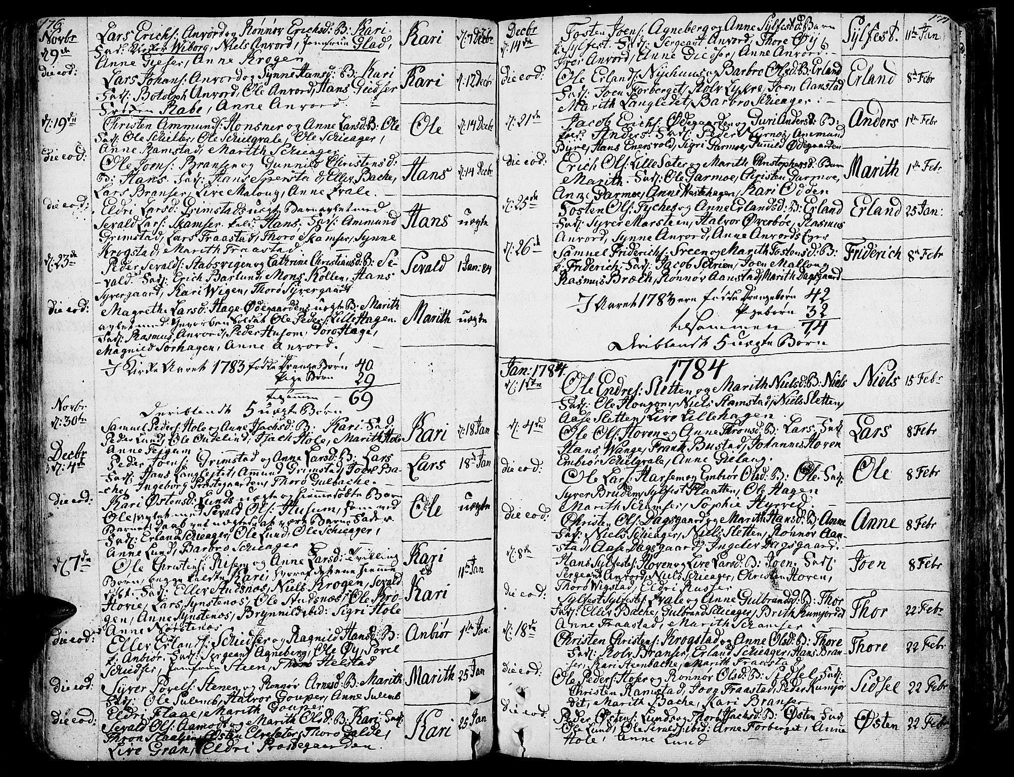 SAH, Lom prestekontor, K/L0002: Ministerialbok nr. 2, 1749-1801, s. 176-177