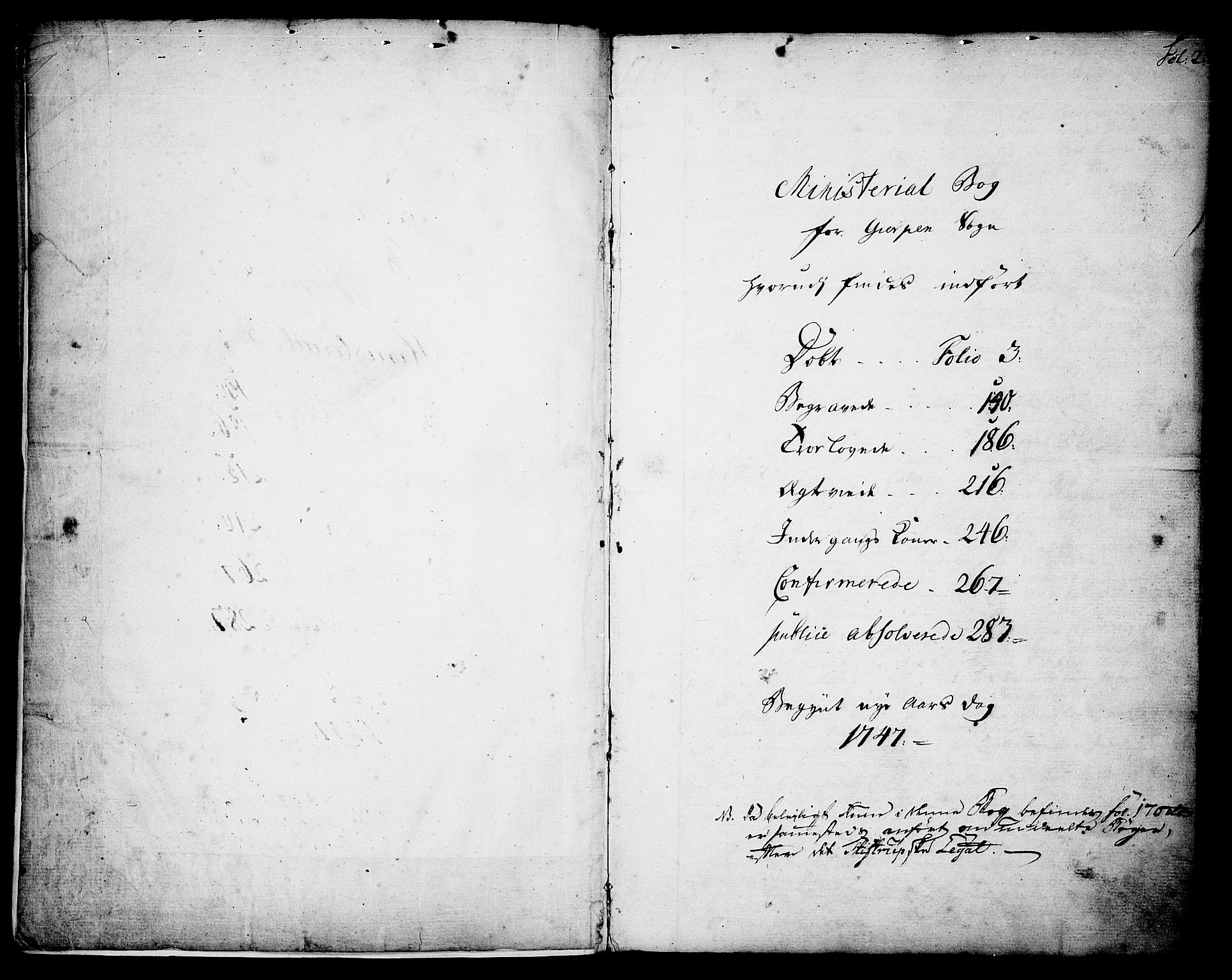 SAKO, Gjerpen kirkebøker, F/Fa/L0002: Ministerialbok nr. 2, 1747-1795, s. 2