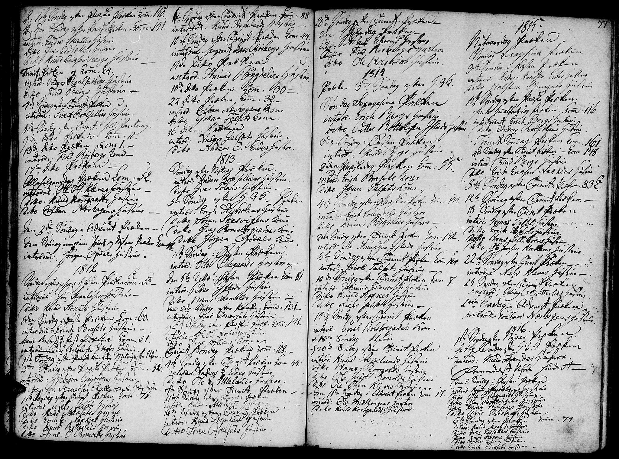 SAT, Ministerialprotokoller, klokkerbøker og fødselsregistre - Møre og Romsdal, 555/L0650: Ministerialbok nr. 555A02 /2, 1798-1821, s. 77