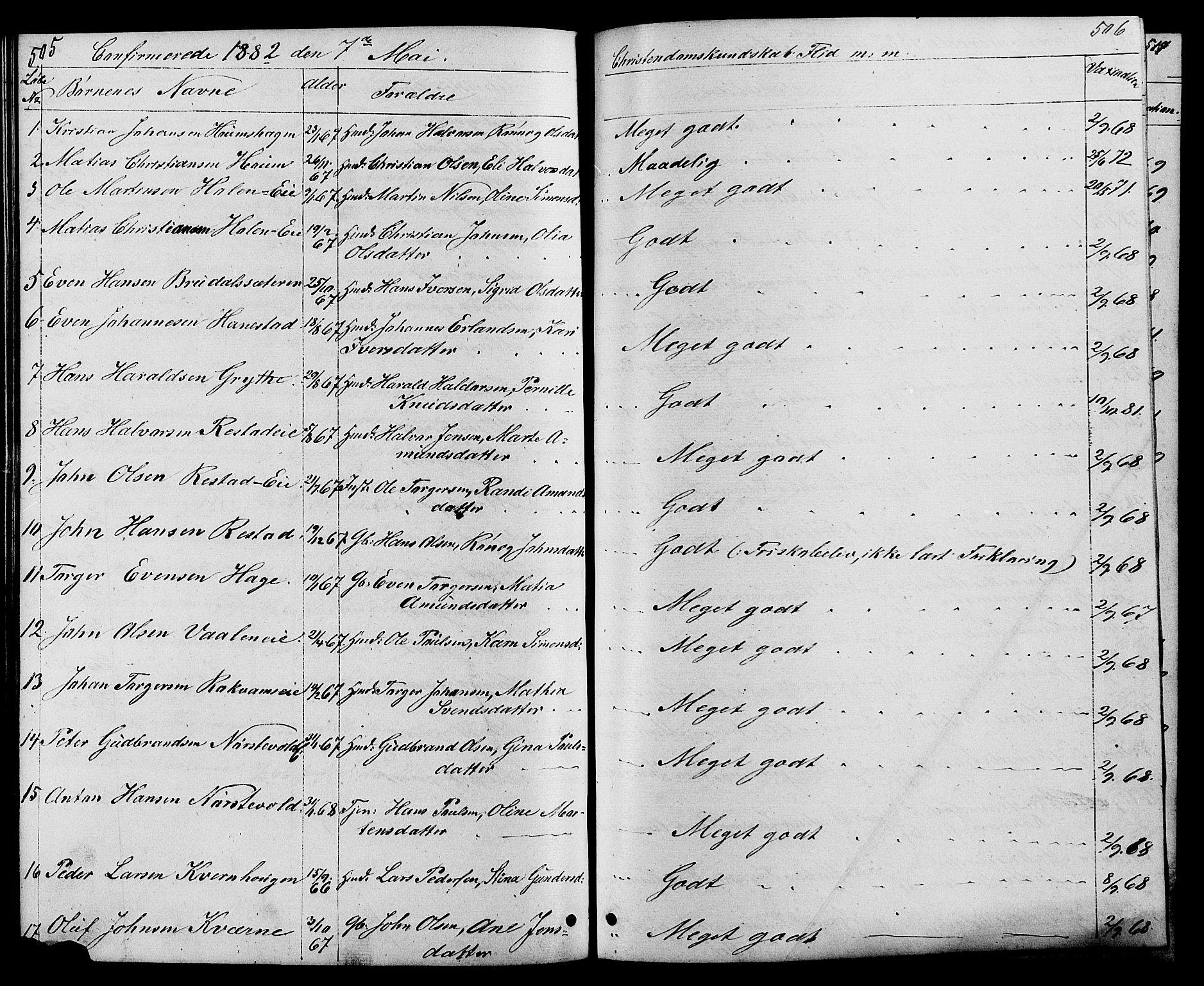 SAH, Østre Gausdal prestekontor, Klokkerbok nr. 1, 1863-1893, s. 505-506
