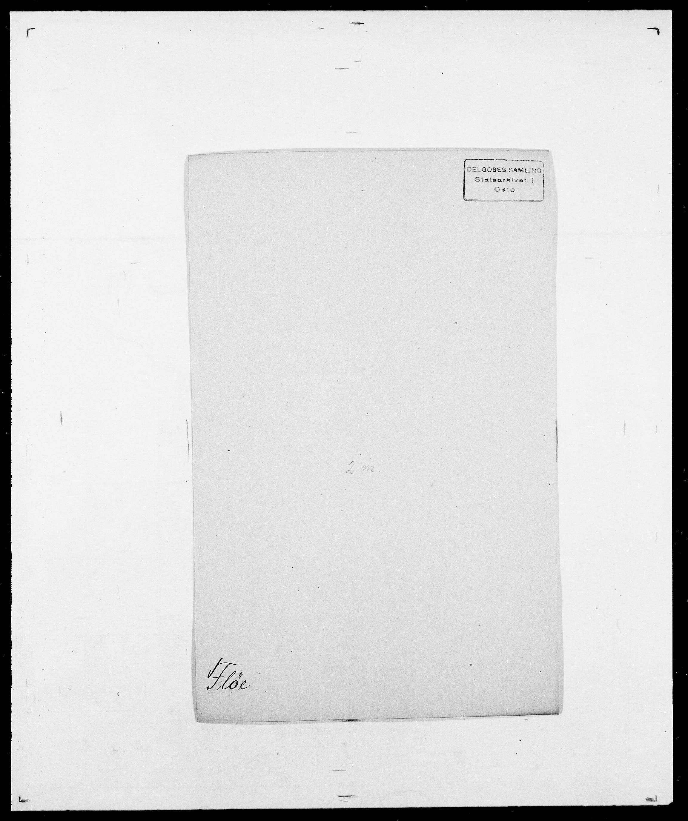 SAO, Delgobe, Charles Antoine - samling, D/Da/L0012: Flor, Floer, Flohr - Fritzner, s. 498