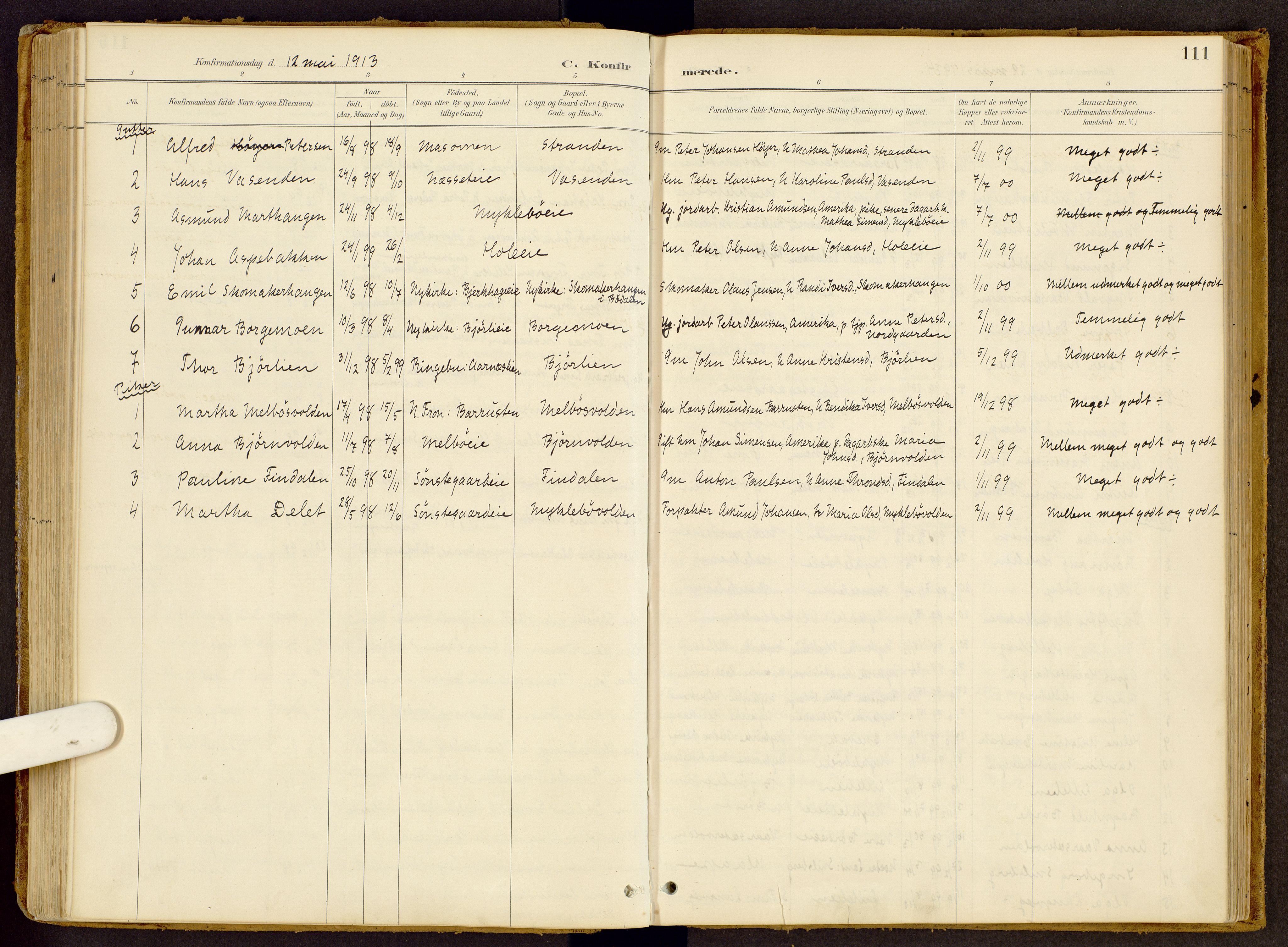 SAH, Vestre Gausdal prestekontor, Ministerialbok nr. 2, 1887-1918, s. 111