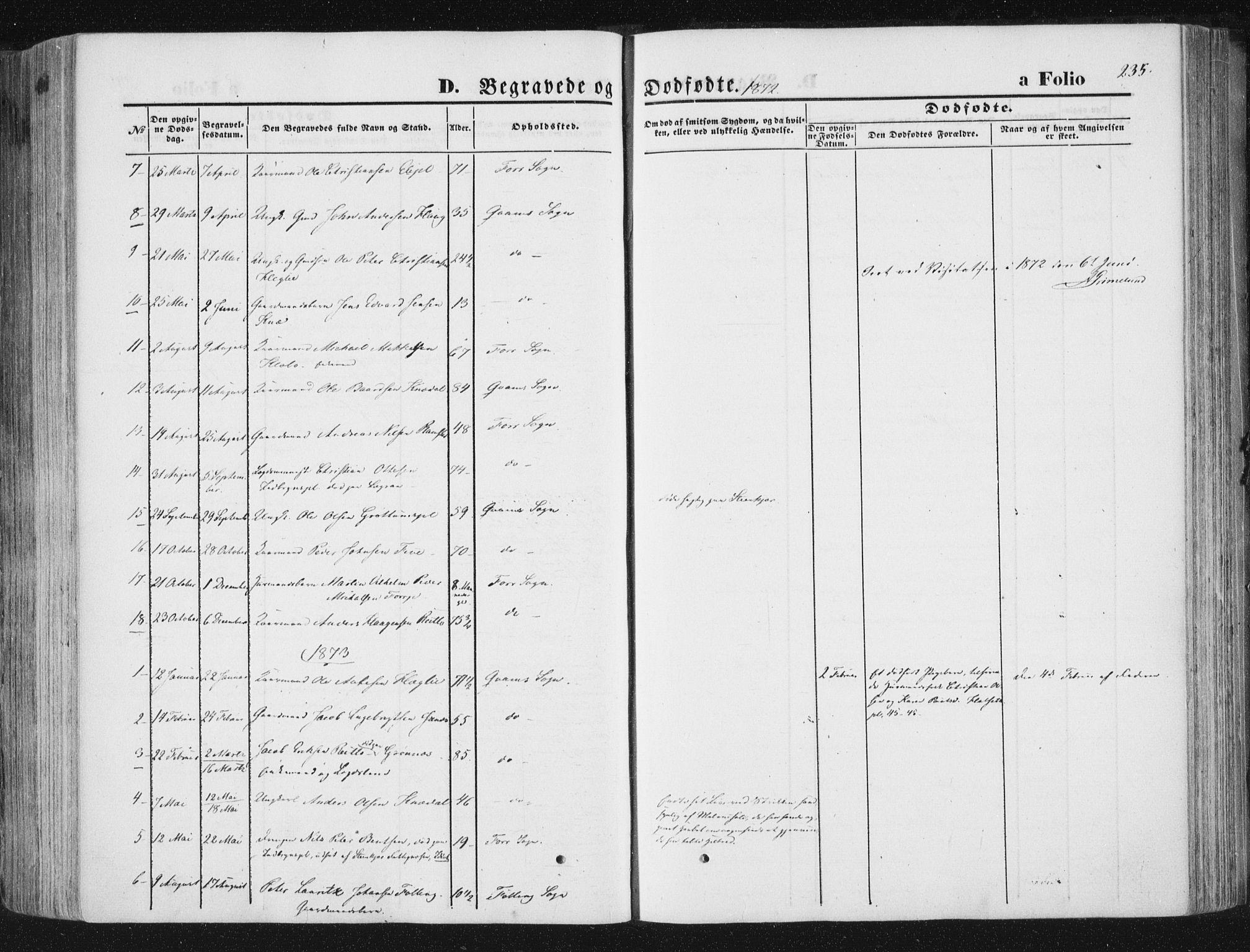 SAT, Ministerialprotokoller, klokkerbøker og fødselsregistre - Nord-Trøndelag, 746/L0447: Ministerialbok nr. 746A06, 1860-1877, s. 235