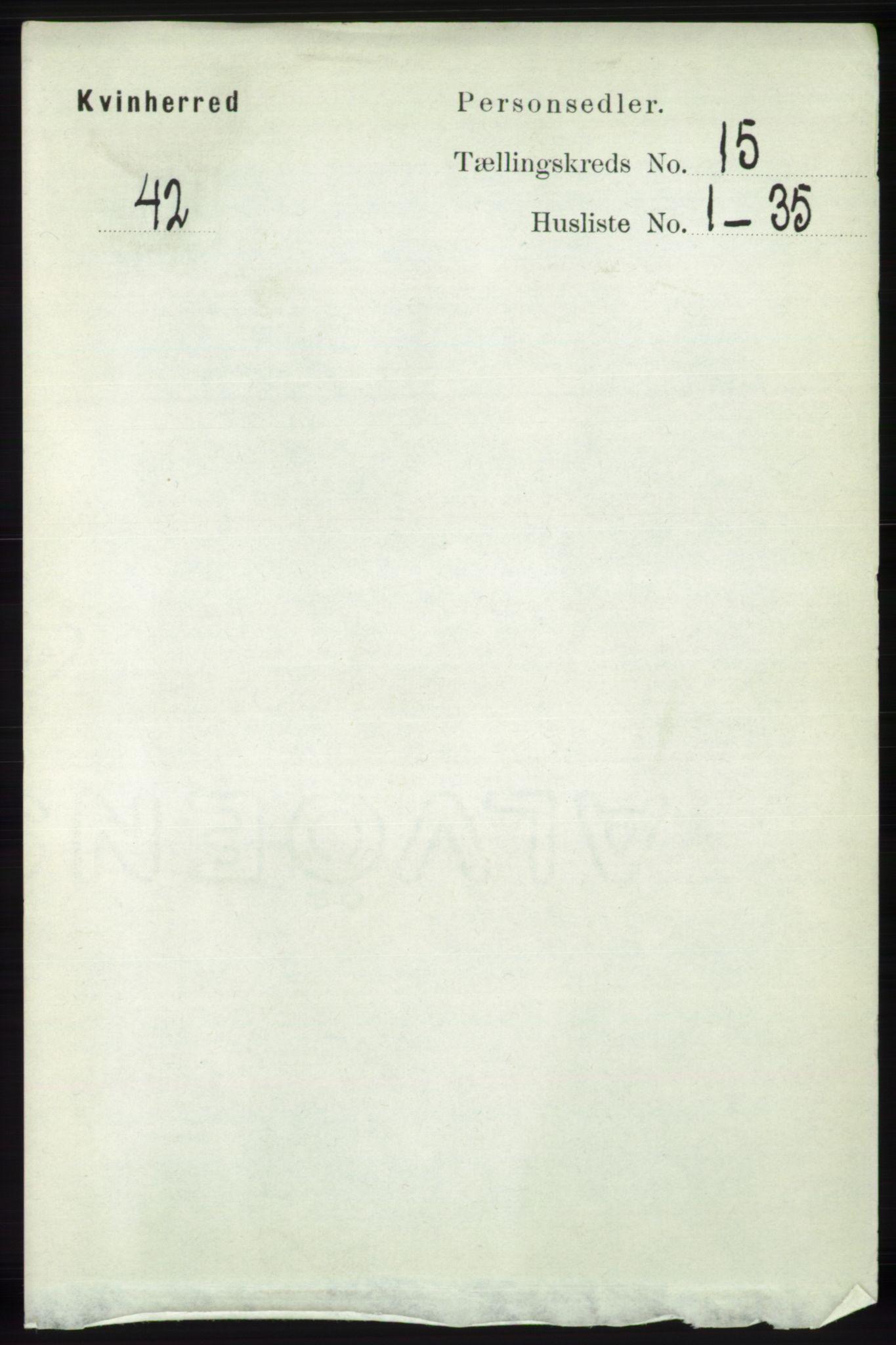 RA, Folketelling 1891 for 1224 Kvinnherad herred, 1891, s. 5017