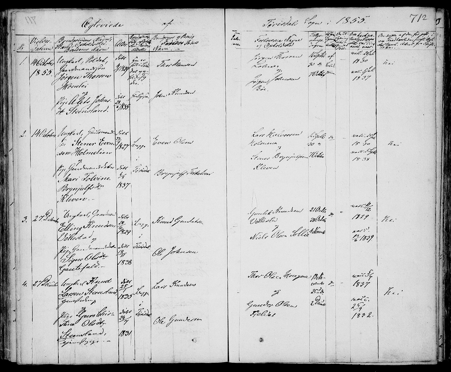 SAKO, Drangedal kirkebøker, F/Fa/L0007b: Ministerialbok nr. 7b, 1837-1856, s. 712