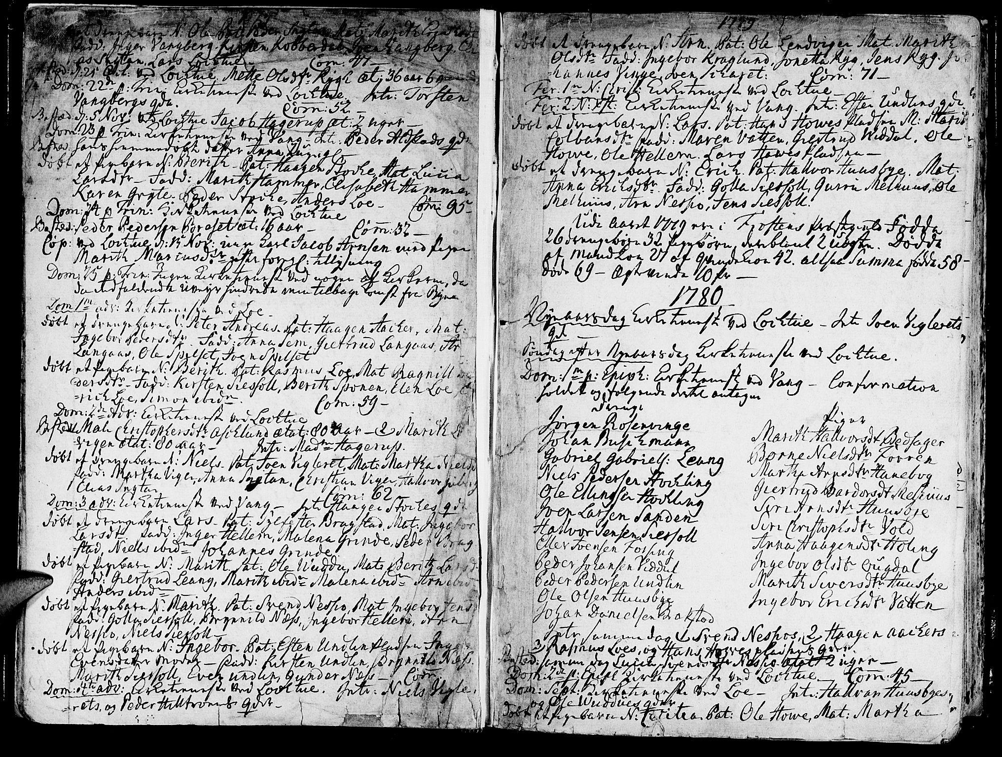 SAT, Ministerialprotokoller, klokkerbøker og fødselsregistre - Nord-Trøndelag, 713/L0110: Ministerialbok nr. 713A02, 1778-1811, s. 12-13
