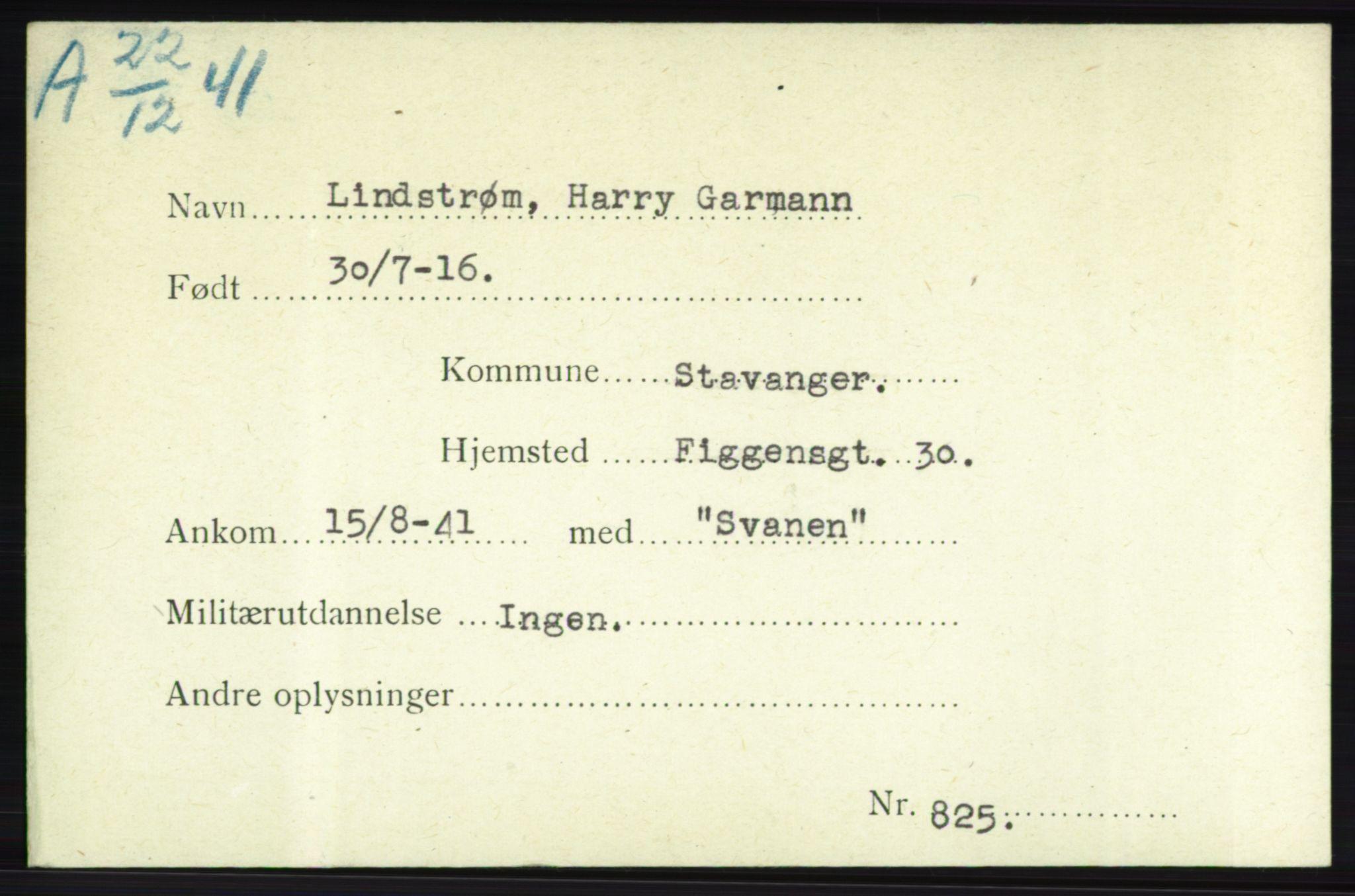 NHM, Forsvarets Overkommando. 2. kontor. Arkiv 8.1. Mottakersentralen FDE og FO.II, P/Pa/L0013: Kortsamling, 1940-1945, s. 2