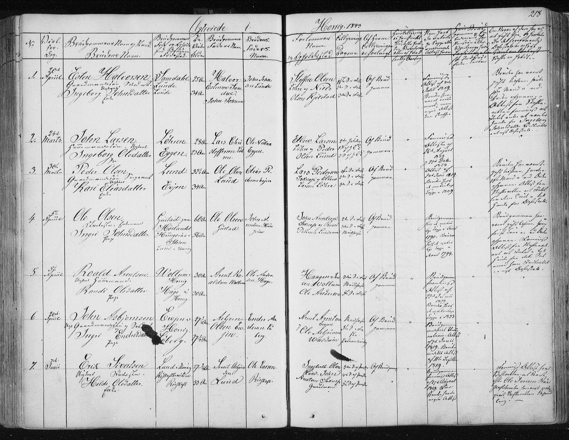SAT, Ministerialprotokoller, klokkerbøker og fødselsregistre - Sør-Trøndelag, 687/L0998: Ministerialbok nr. 687A05 /2, 1843-1849, s. 218