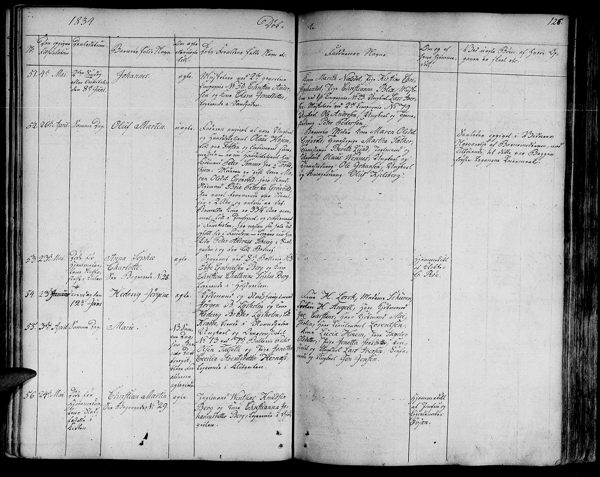 SAT, Ministerialprotokoller, klokkerbøker og fødselsregistre - Sør-Trøndelag, 602/L0108: Ministerialbok nr. 602A06, 1821-1839, s. 126