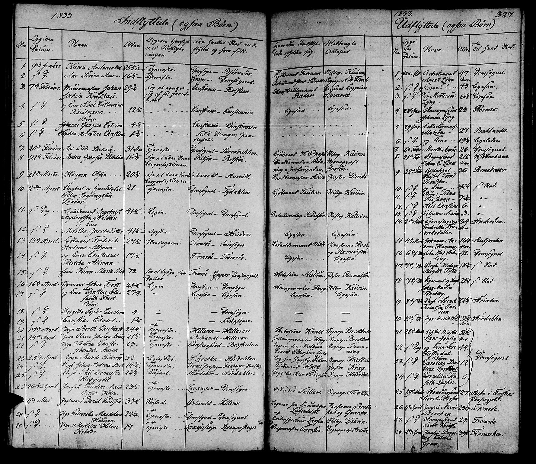 SAT, Ministerialprotokoller, klokkerbøker og fødselsregistre - Sør-Trøndelag, 602/L0136: Klokkerbok nr. 602C04, 1833-1845, s. 327
