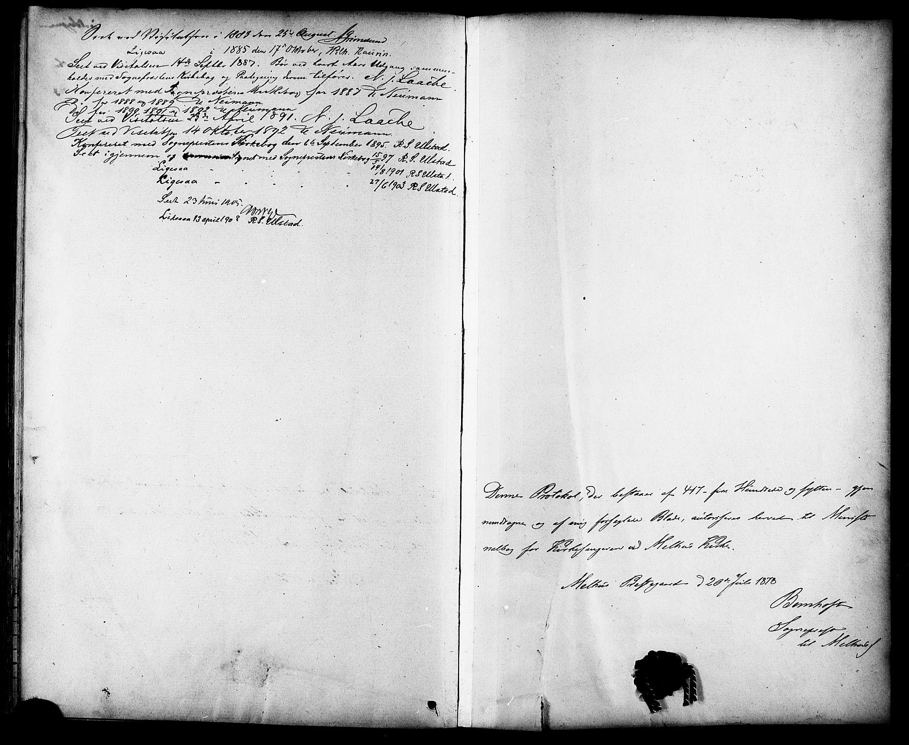 SAT, Ministerialprotokoller, klokkerbøker og fødselsregistre - Sør-Trøndelag, 691/L1094: Klokkerbok nr. 691C05, 1879-1911