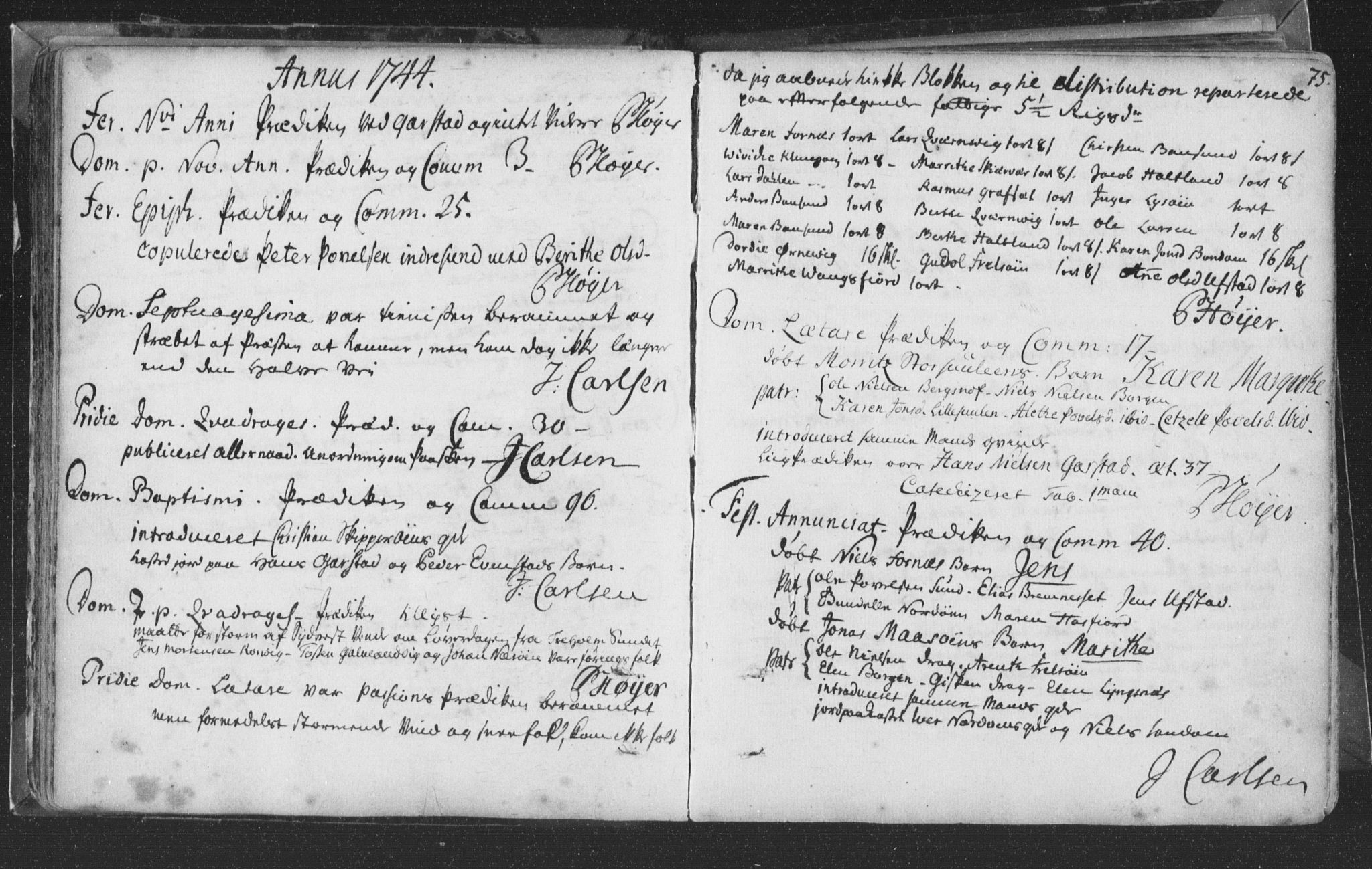 SAT, Ministerialprotokoller, klokkerbøker og fødselsregistre - Nord-Trøndelag, 786/L0685: Ministerialbok nr. 786A01, 1710-1798, s. 75