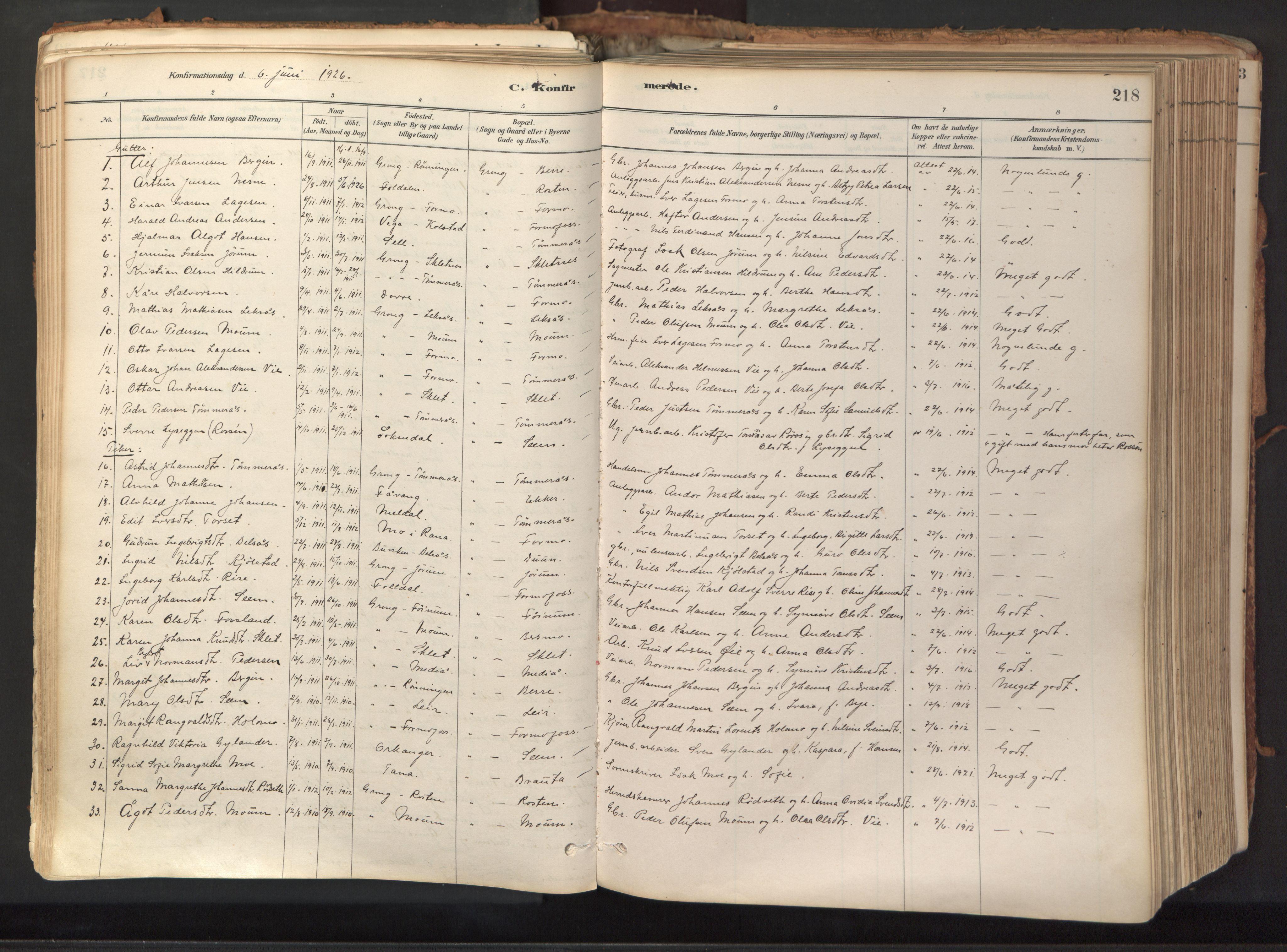 SAT, Ministerialprotokoller, klokkerbøker og fødselsregistre - Nord-Trøndelag, 758/L0519: Ministerialbok nr. 758A04, 1880-1926, s. 218