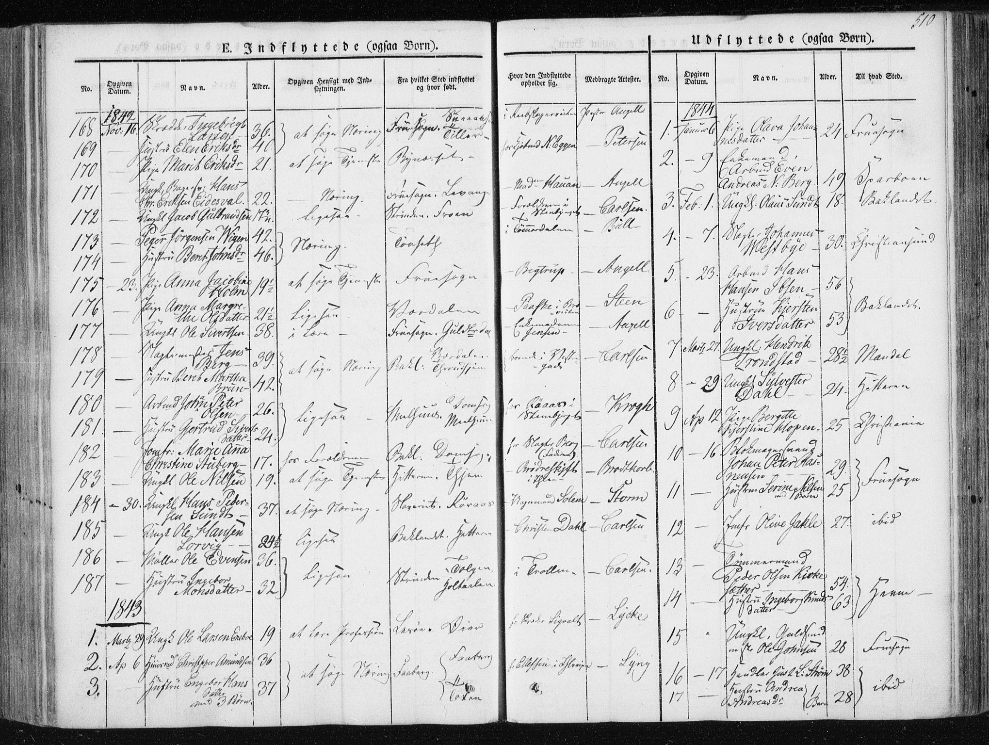 SAT, Ministerialprotokoller, klokkerbøker og fødselsregistre - Sør-Trøndelag, 601/L0049: Ministerialbok nr. 601A17, 1839-1847, s. 510