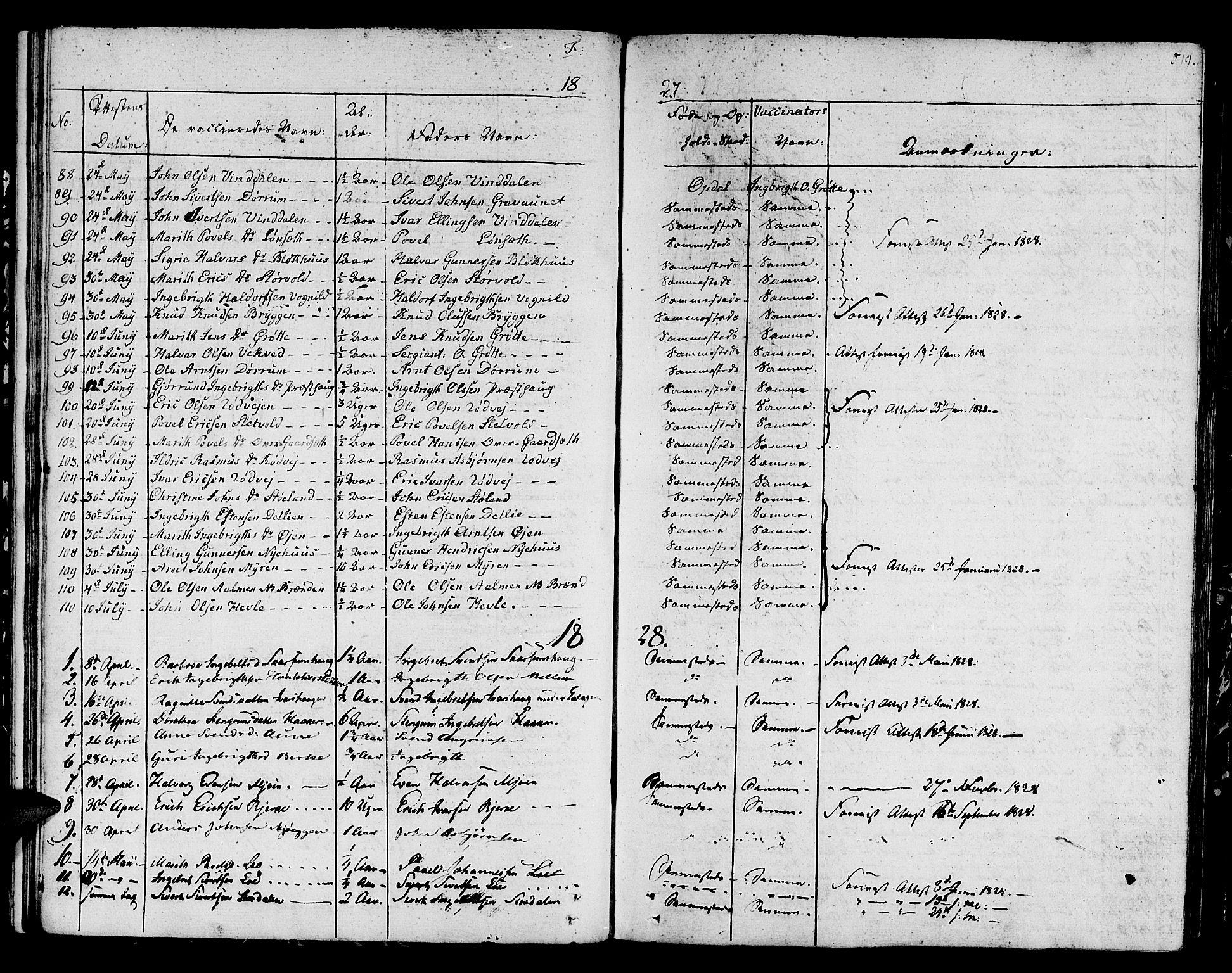 SAT, Ministerialprotokoller, klokkerbøker og fødselsregistre - Sør-Trøndelag, 678/L0897: Ministerialbok nr. 678A06-07, 1821-1847, s. 519