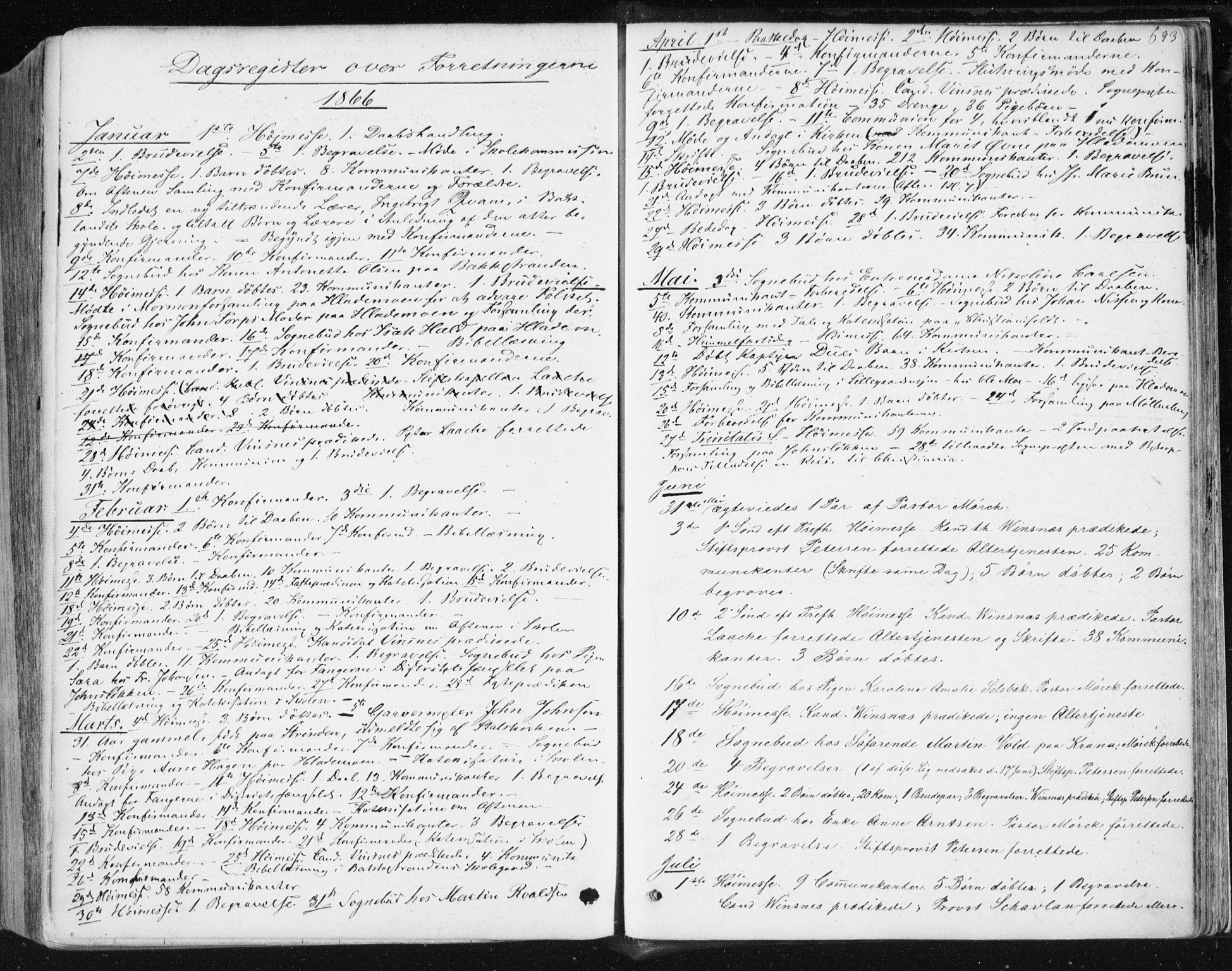 SAT, Ministerialprotokoller, klokkerbøker og fødselsregistre - Sør-Trøndelag, 604/L0186: Ministerialbok nr. 604A07, 1866-1877, s. 693