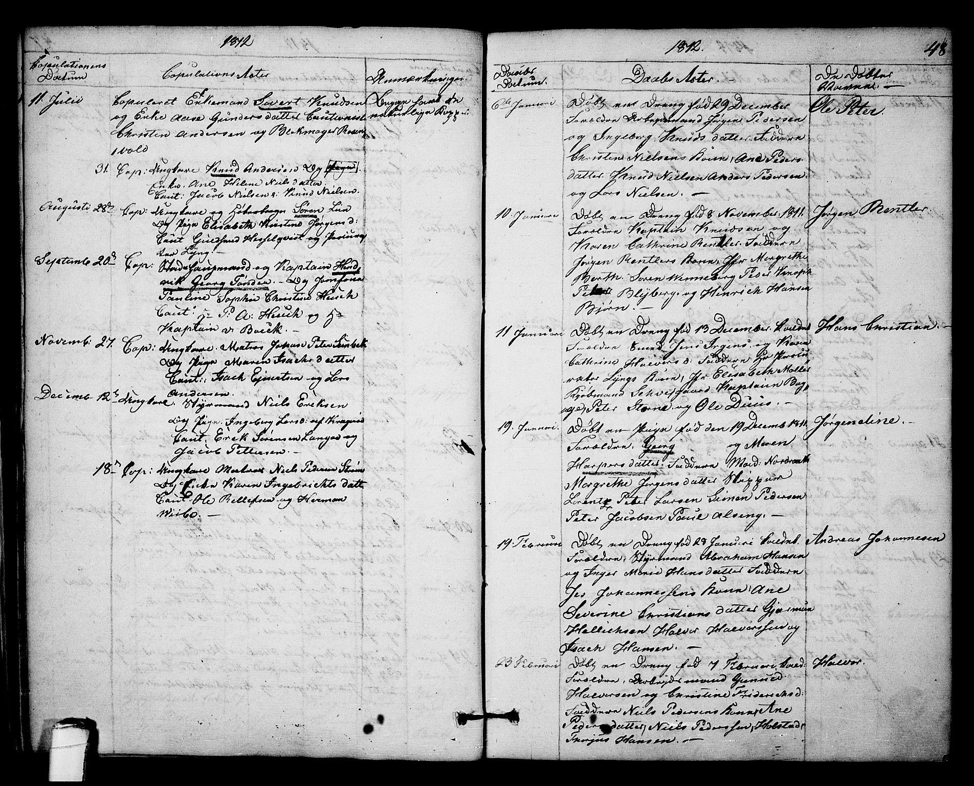SAKO, Kragerø kirkebøker, F/Fa/L0003: Ministerialbok nr. 3, 1802-1813, s. 48