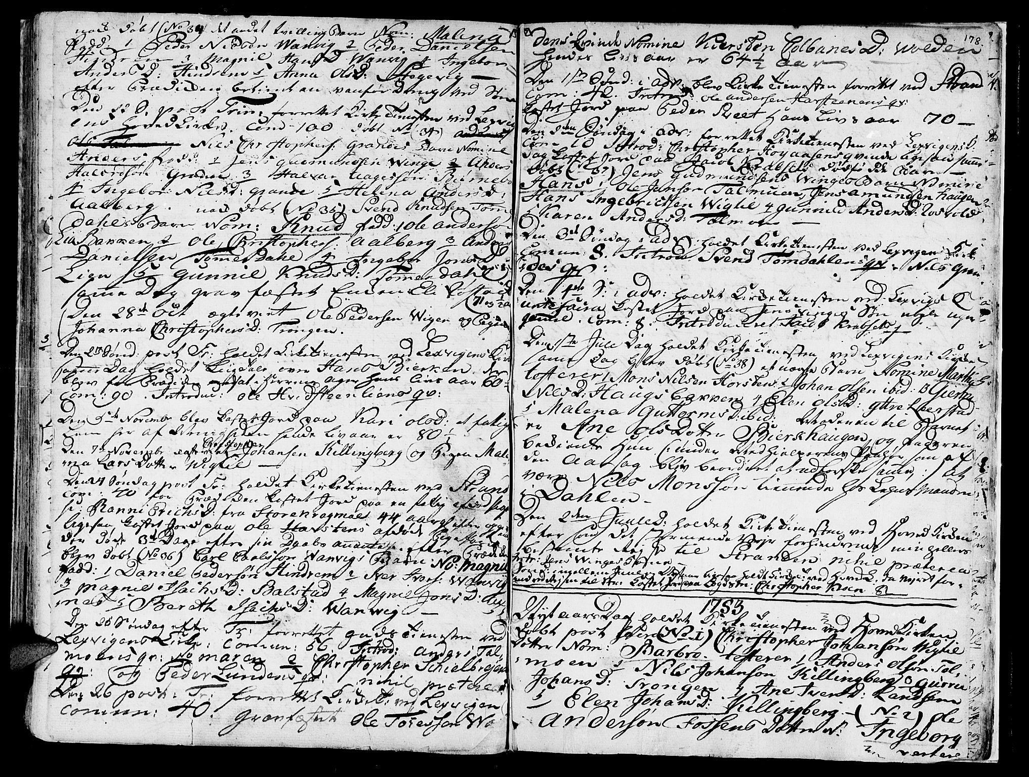 SAT, Ministerialprotokoller, klokkerbøker og fødselsregistre - Nord-Trøndelag, 701/L0003: Ministerialbok nr. 701A03, 1751-1783, s. 178