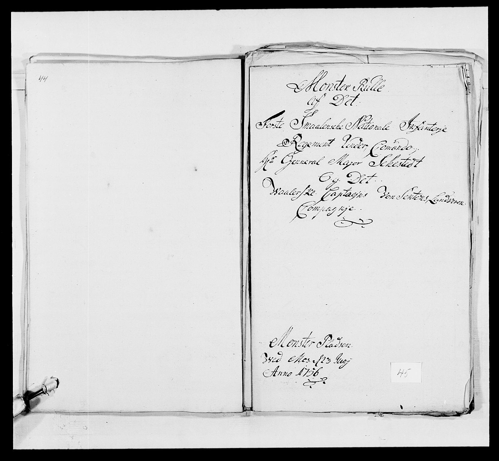 RA, Kommanderende general (KG I) med Det norske krigsdirektorium, E/Ea/L0495: 1. Smålenske regiment, 1732-1763, s. 586