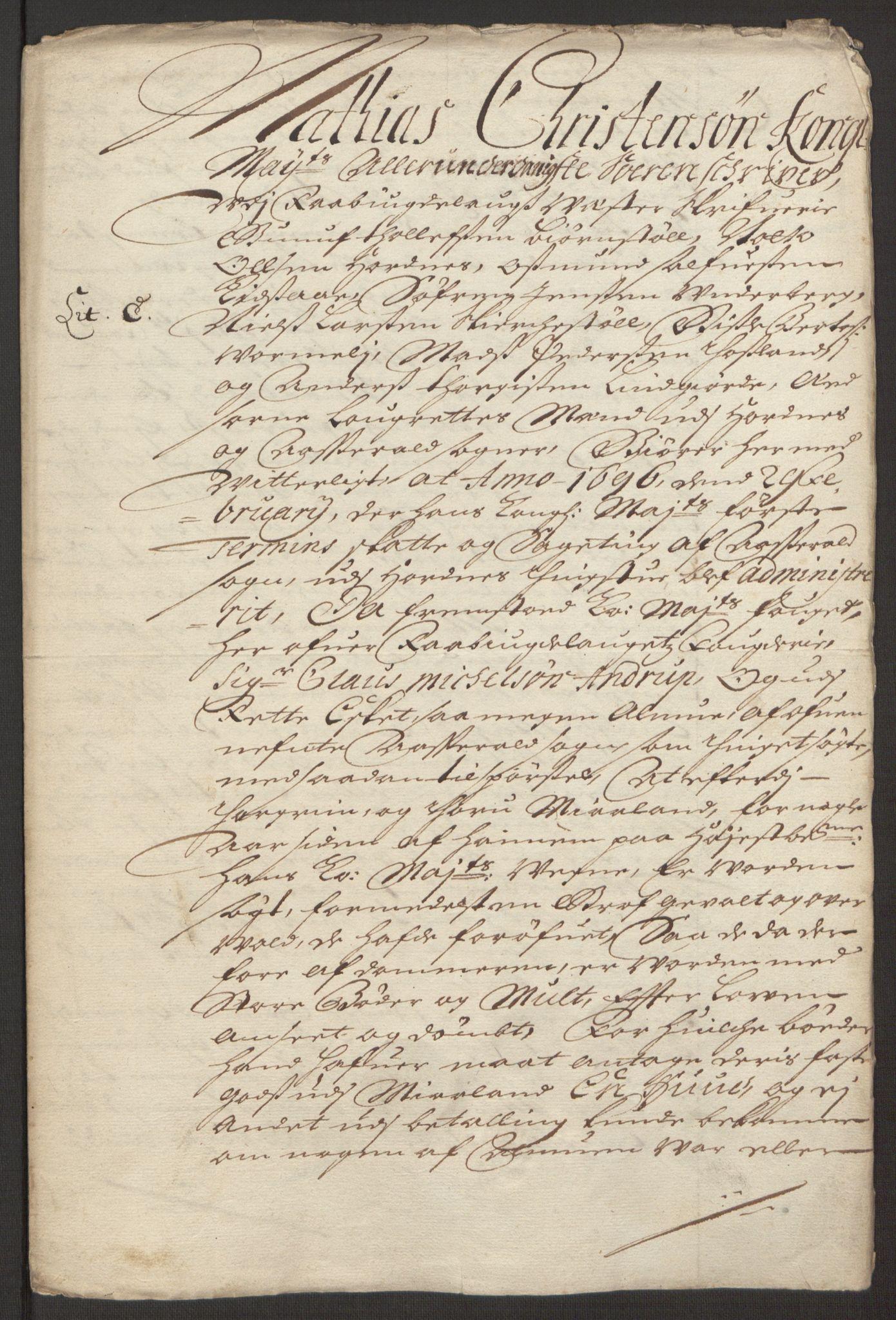 RA, Rentekammeret inntil 1814, Reviderte regnskaper, Fogderegnskap, R40/L2444: Fogderegnskap Råbyggelag, 1693-1696, s. 282