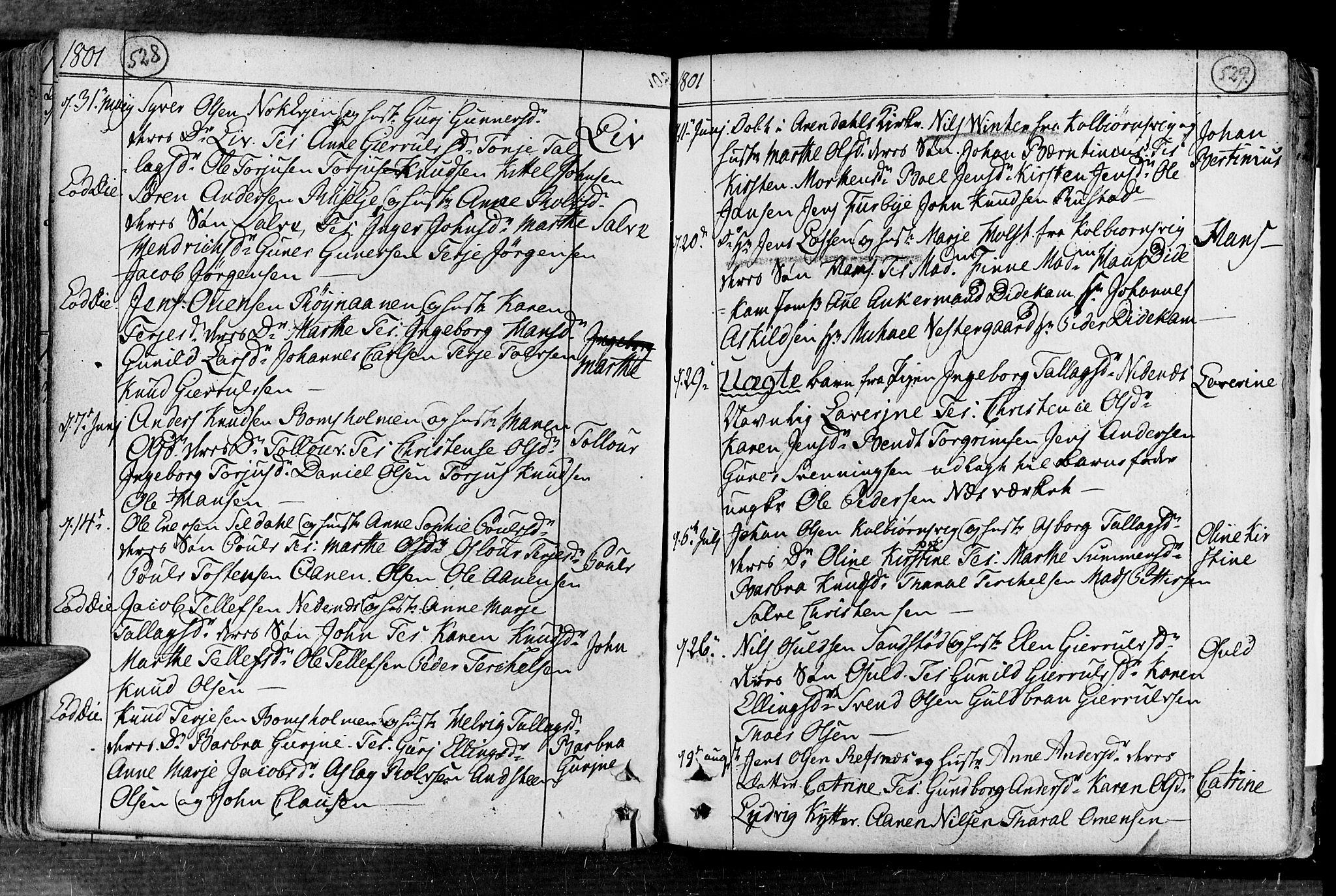 SAK, Øyestad sokneprestkontor, F/Fa/L0008: Ministerialbok nr. A 8, 1777-1804, s. 528-529