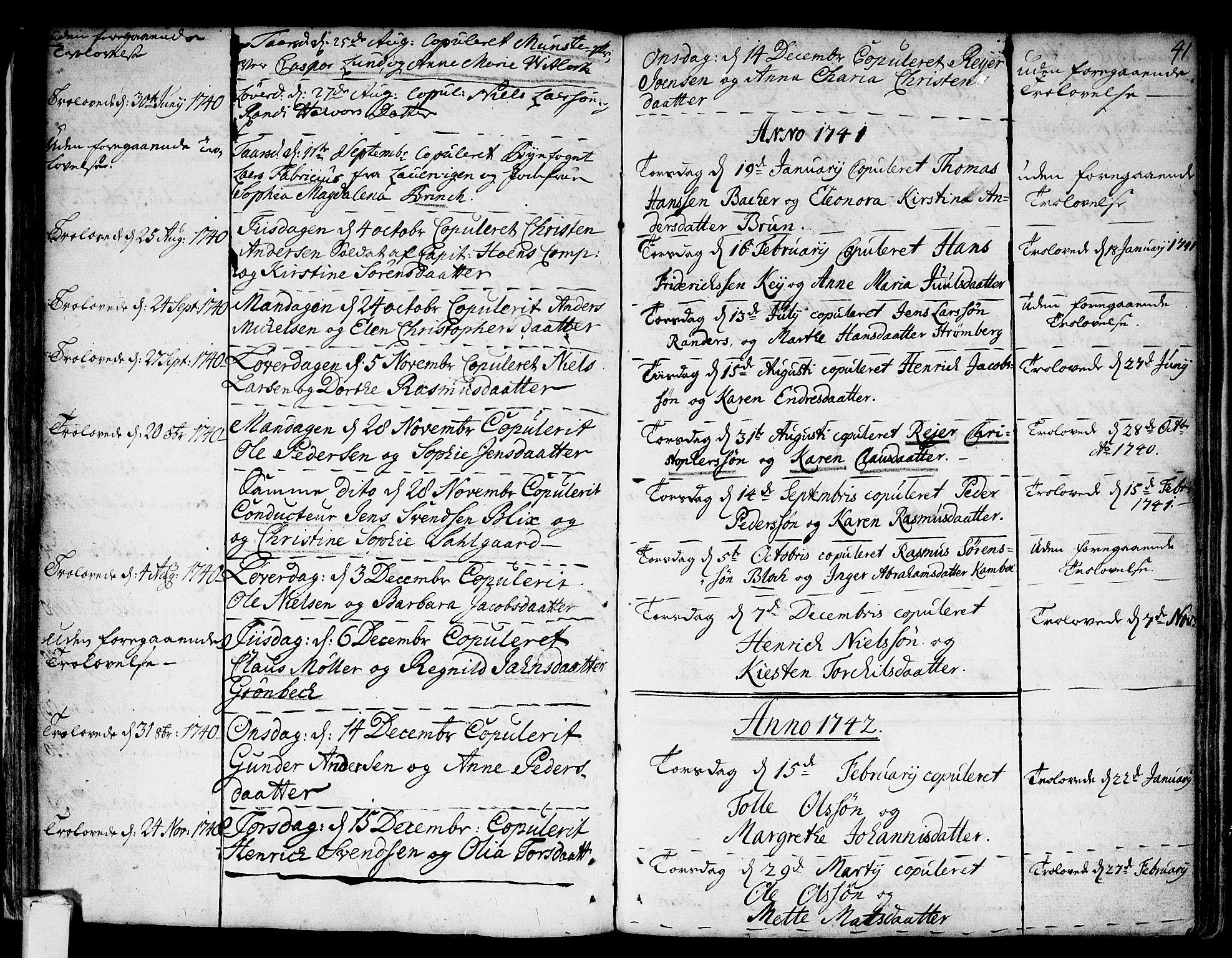 SAKO, Strømsø kirkebøker, F/Fa/L0007: Ministerialbok nr. I 7, 1739-1751, s. 42