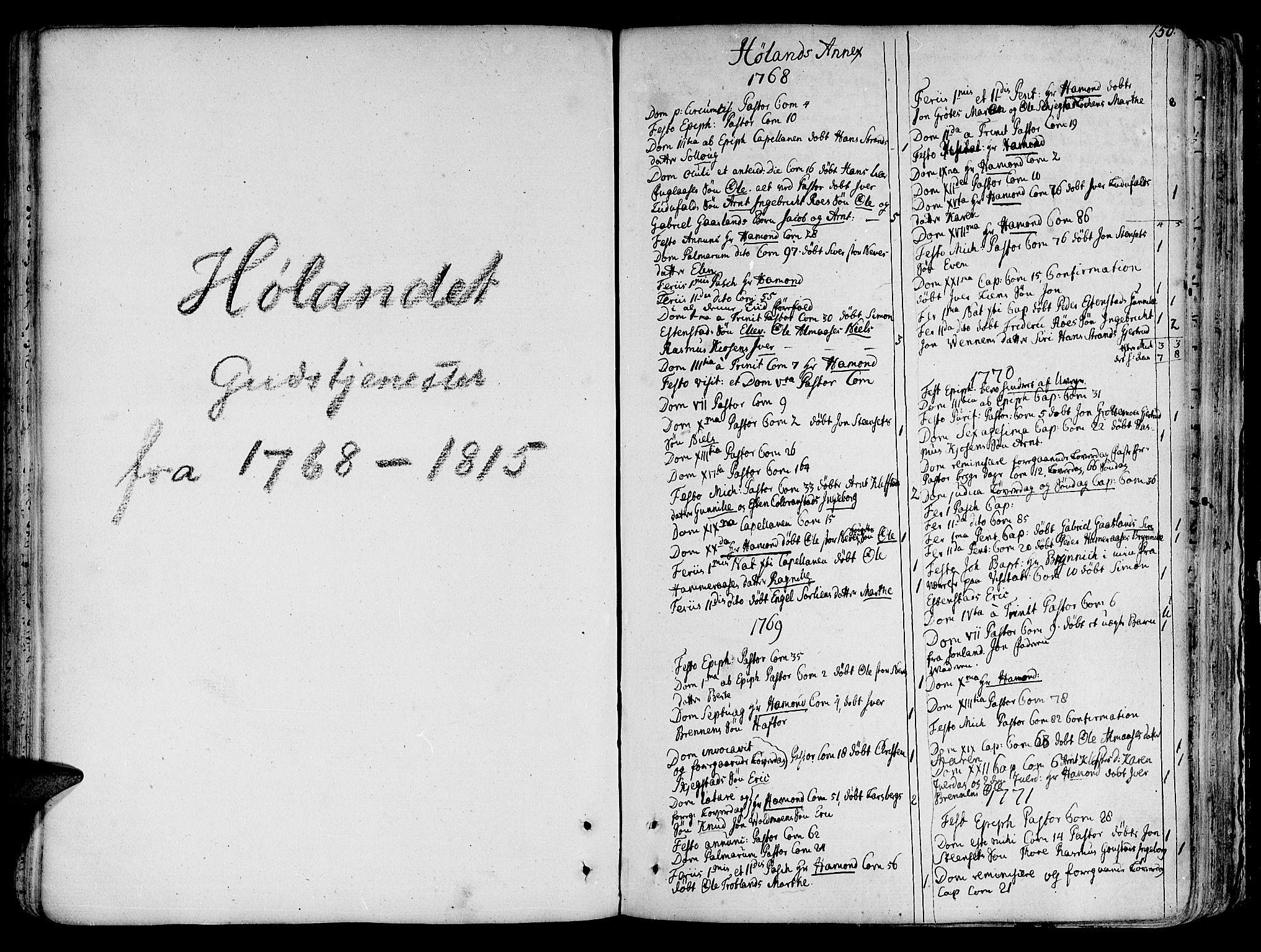 SAT, Ministerialprotokoller, klokkerbøker og fødselsregistre - Sør-Trøndelag, 691/L1064: Ministerialbok nr. 691A02 /4, 1768-1815, s. 150