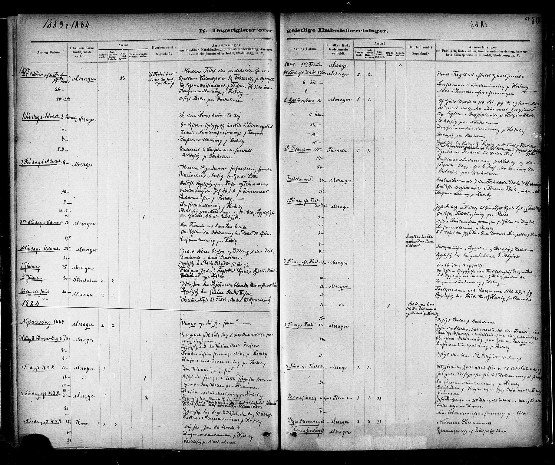 SAT, Ministerialprotokoller, klokkerbøker og fødselsregistre - Nord-Trøndelag, 706/L0047: Ministerialbok nr. 706A03, 1878-1892, s. 240