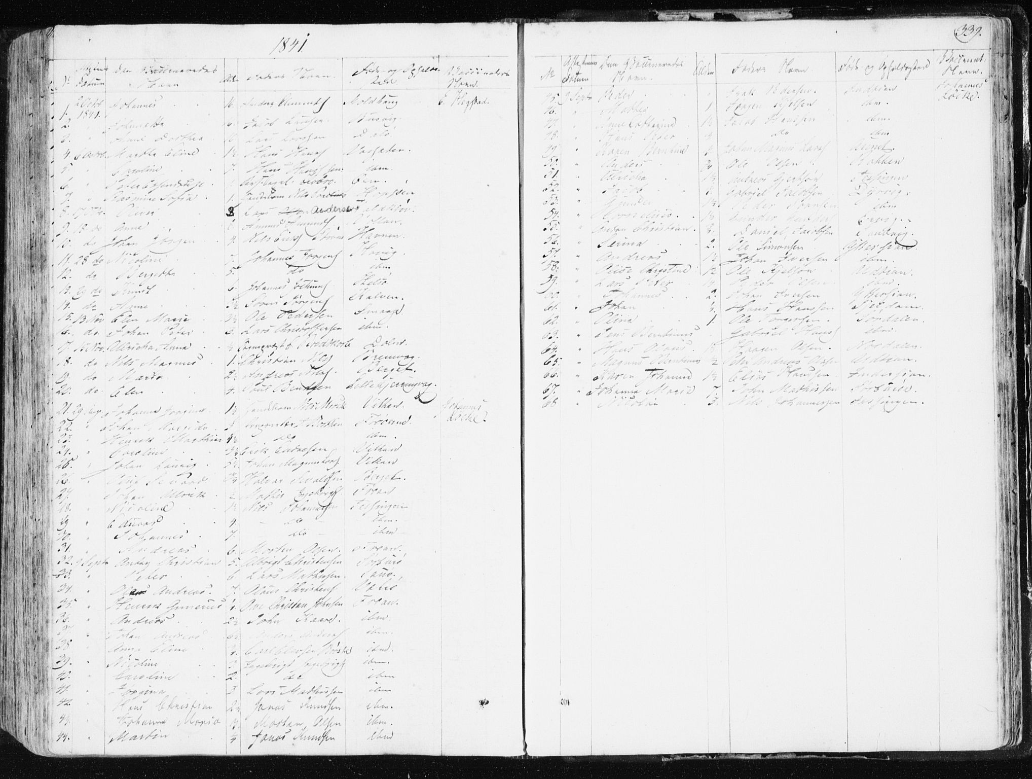 SAT, Ministerialprotokoller, klokkerbøker og fødselsregistre - Sør-Trøndelag, 634/L0528: Ministerialbok nr. 634A04, 1827-1842, s. 339